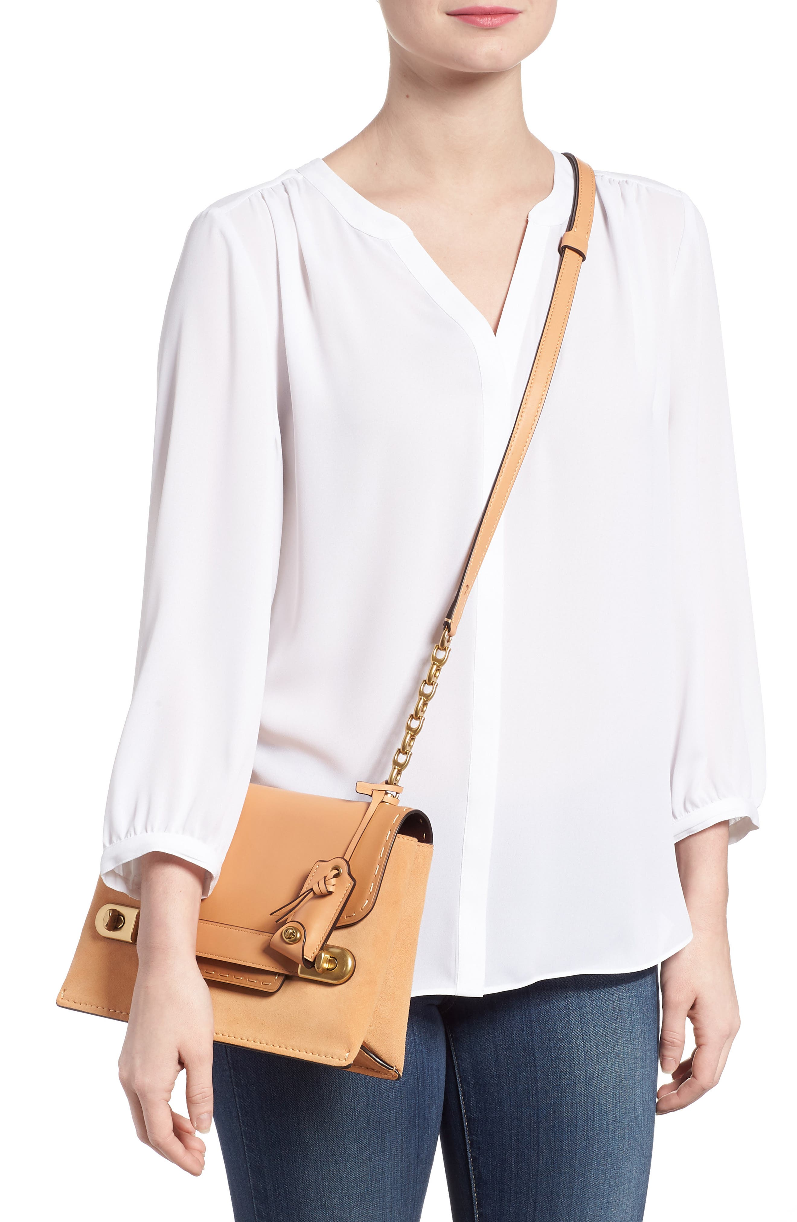 Alternate Image 2  - COACH 1941 Swagger Chain Leather Crossbody Bag