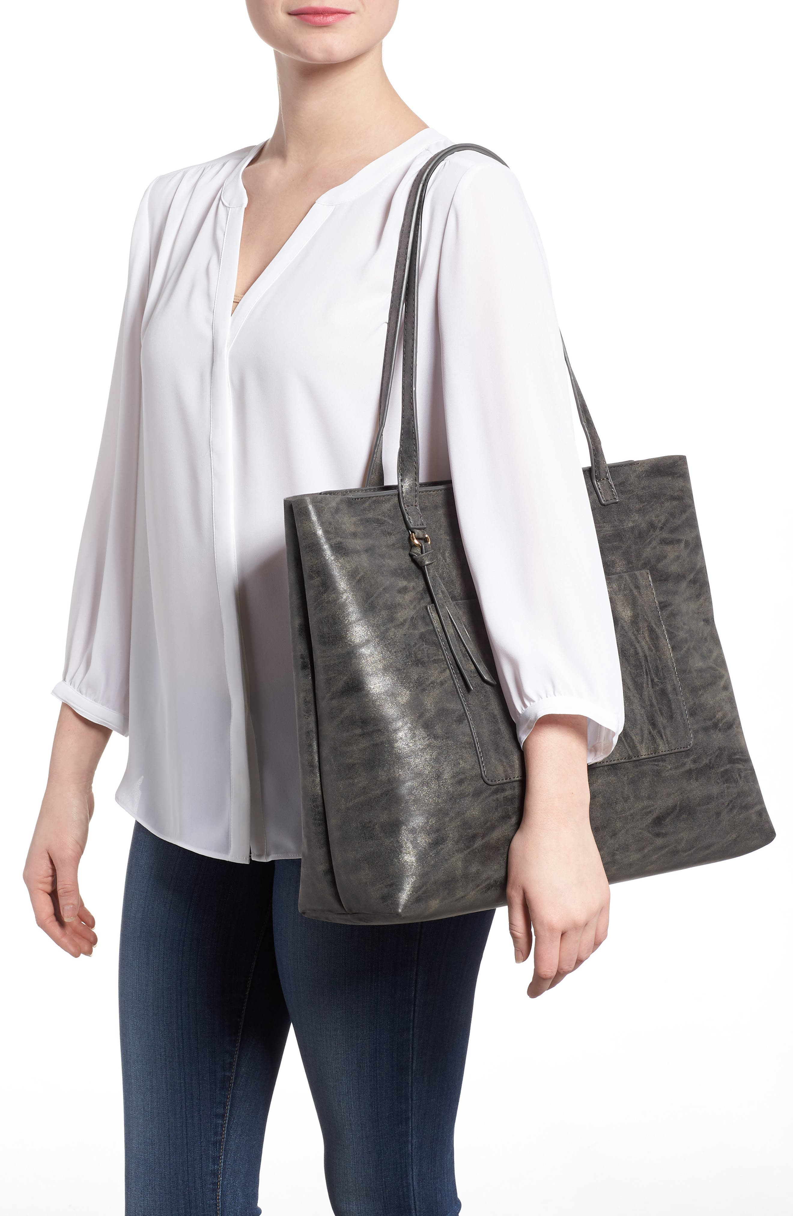 Tote,                             Alternate thumbnail 2, color,                             Grey