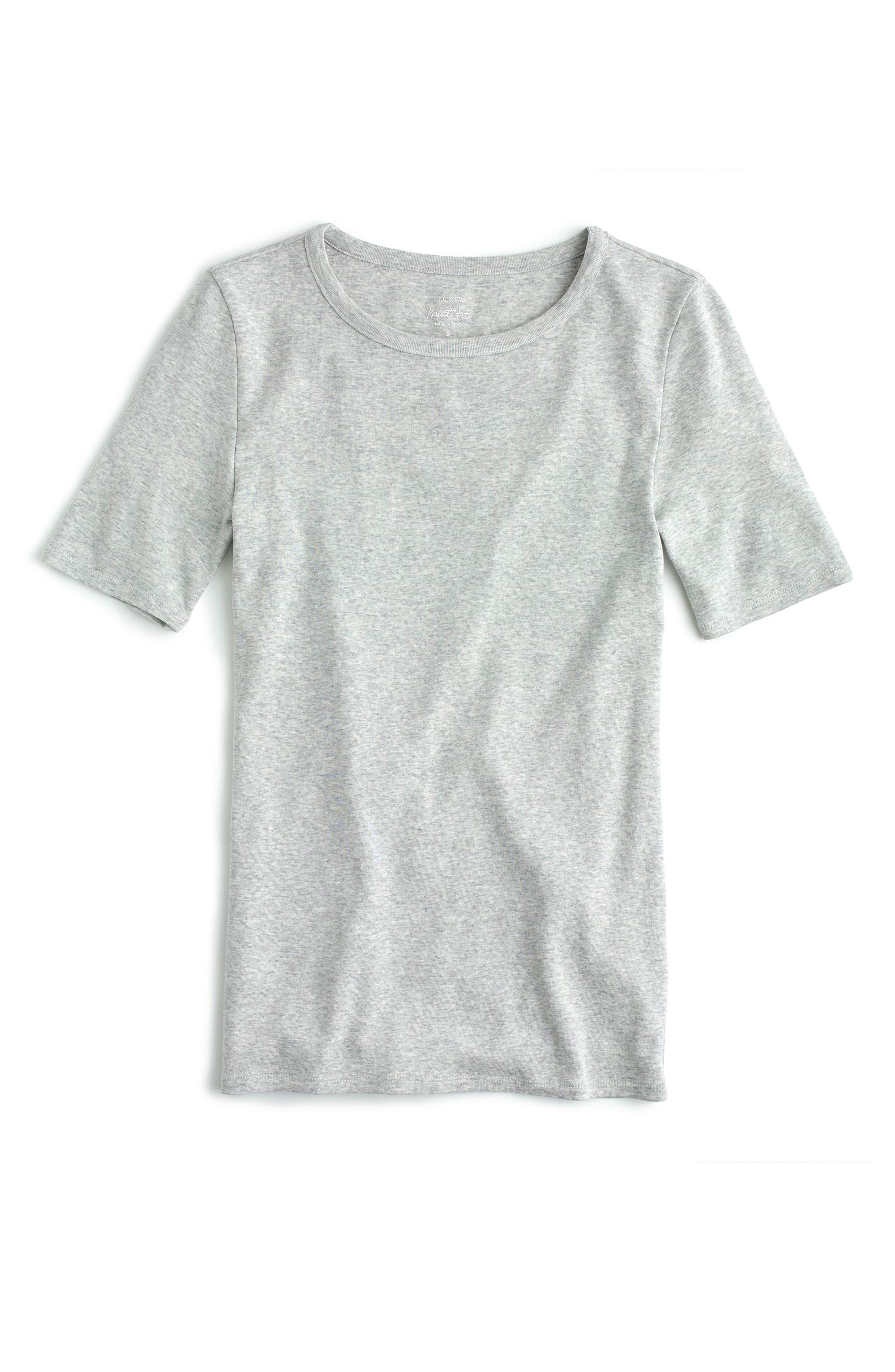 J.Crew New Perfect Fit T-Shirt,                             Main thumbnail 1, color,                             Heather Dusk