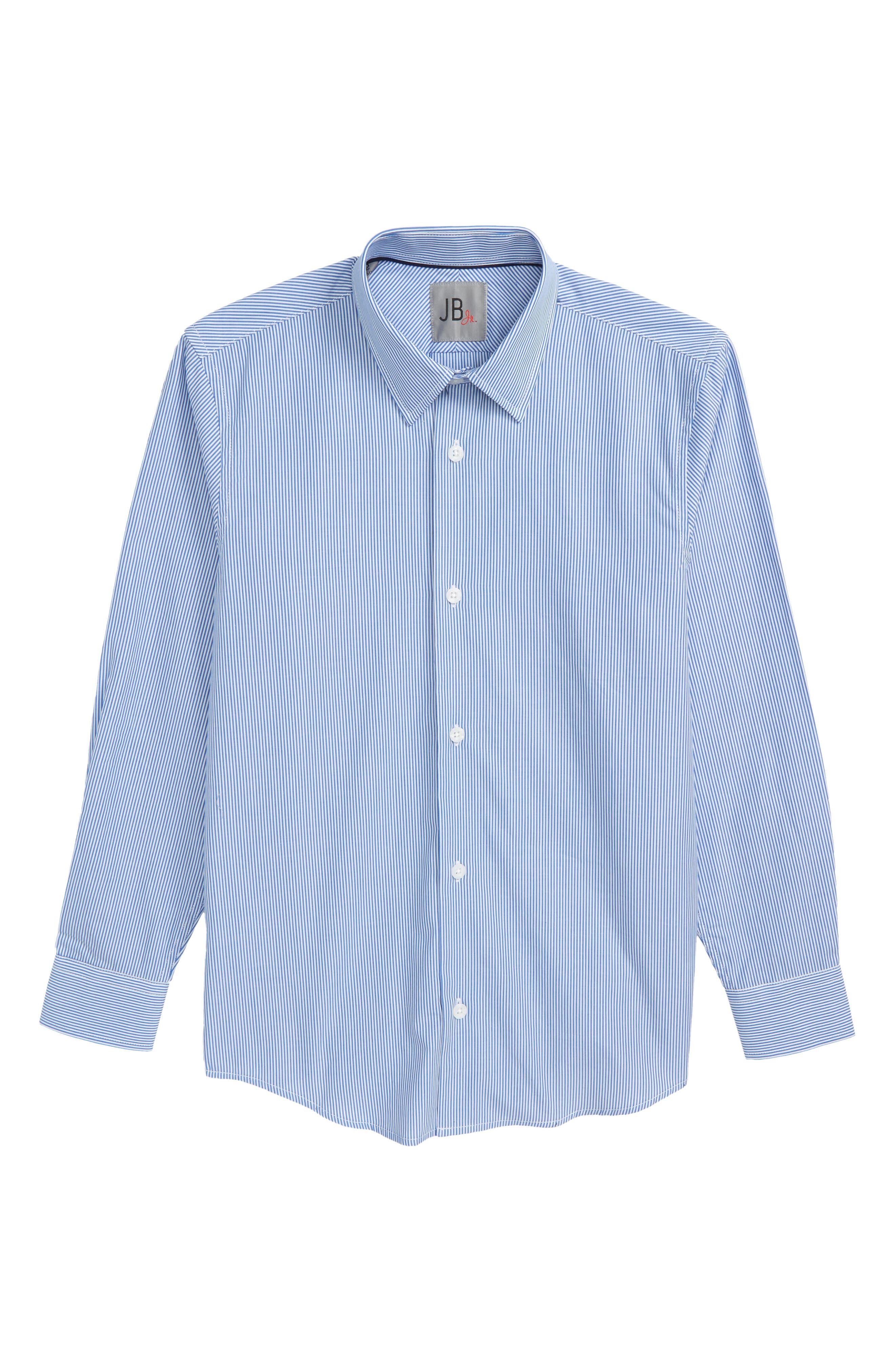 Stripe Dress Shirt,                             Main thumbnail 1, color,                             Blue Stripe