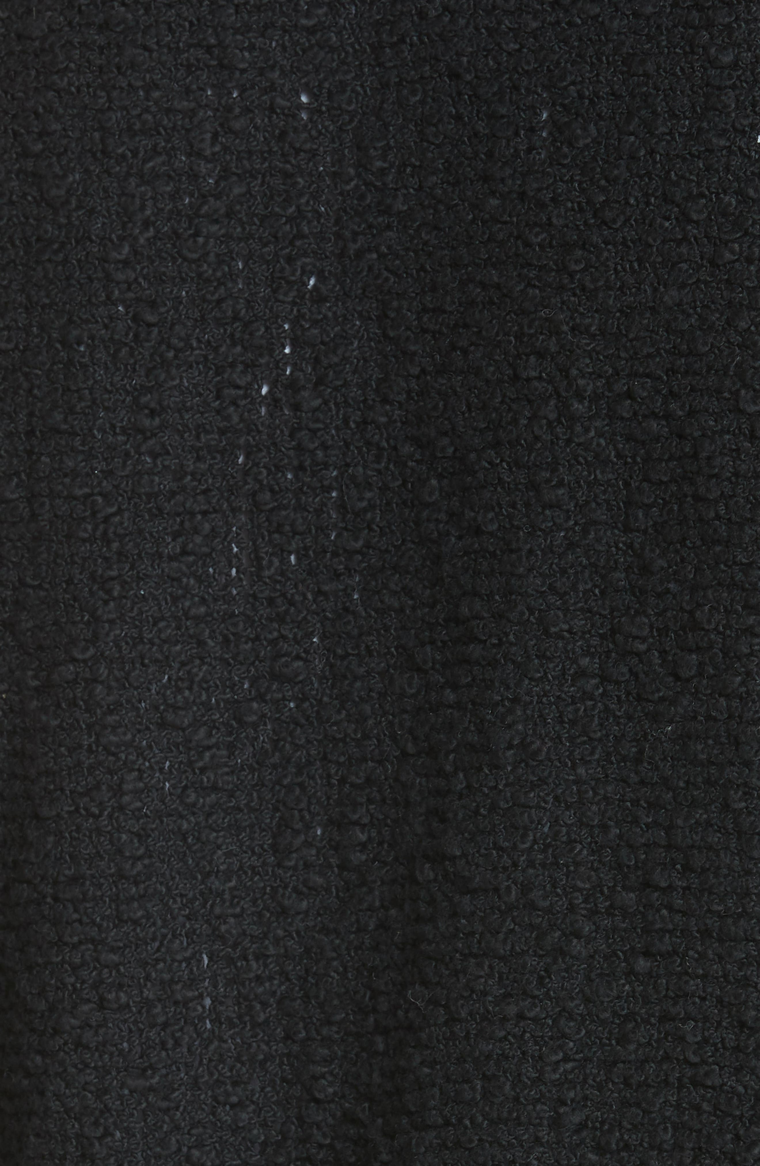 Shavani Tweed Jacket,                             Alternate thumbnail 5, color,                             Black