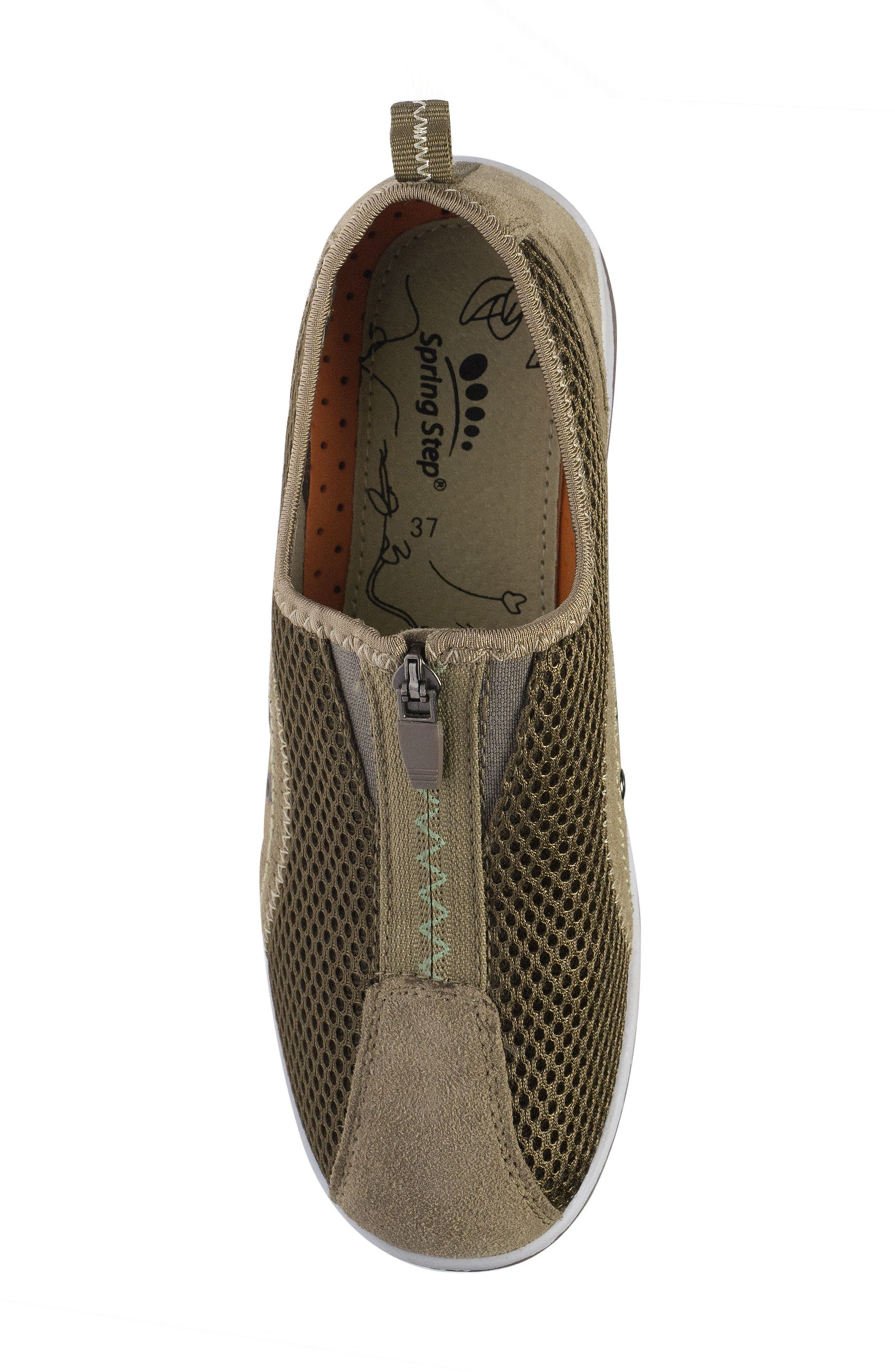 Racer Slip-On Sneaker,                             Alternate thumbnail 5, color,                             Taupe Suede