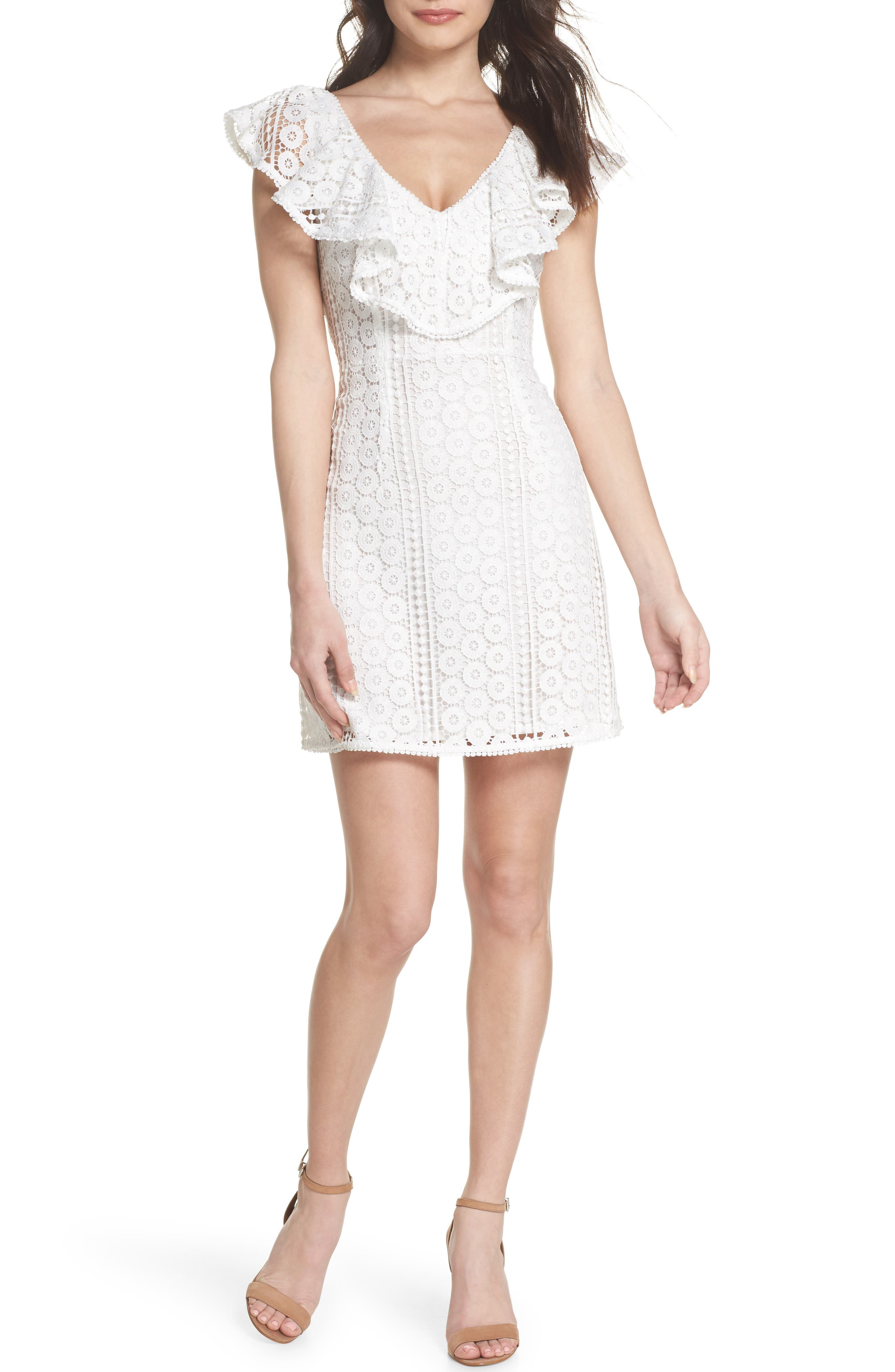 Massey Lace Dress,                         Main,                         color, Summer White