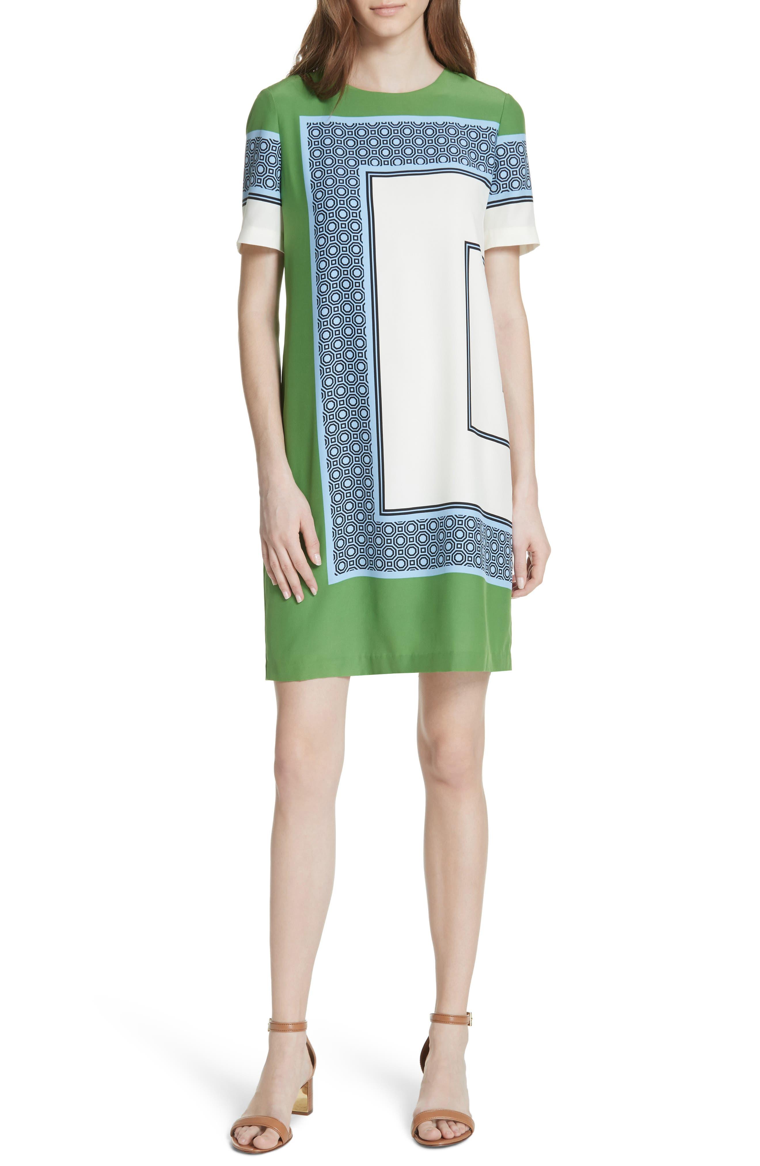 Mallory Silk Dress,                             Main thumbnail 1, color,                             Light Chambray
