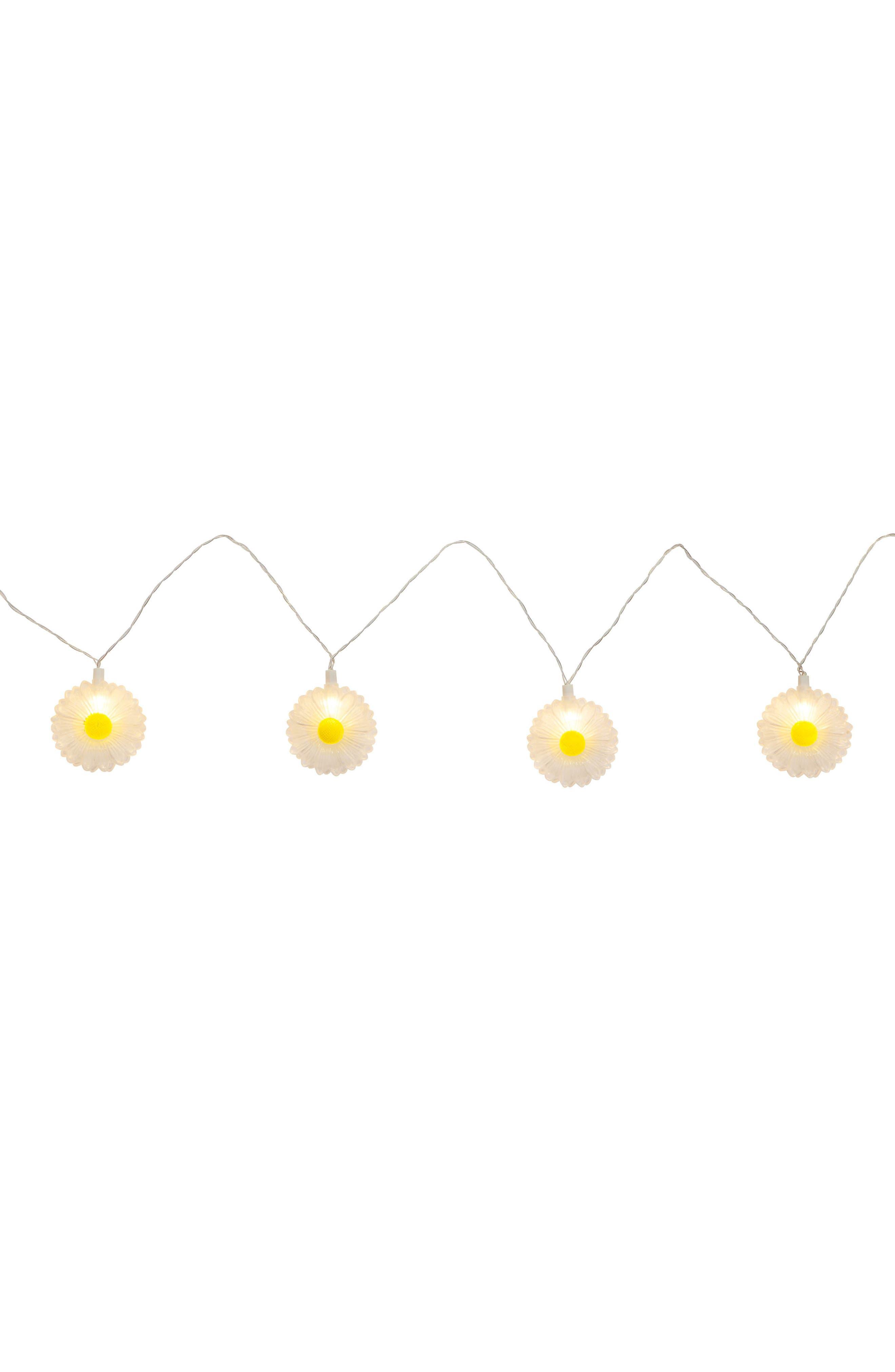 Daisy Battery Powered String Lights,                             Alternate thumbnail 3, color,                             White