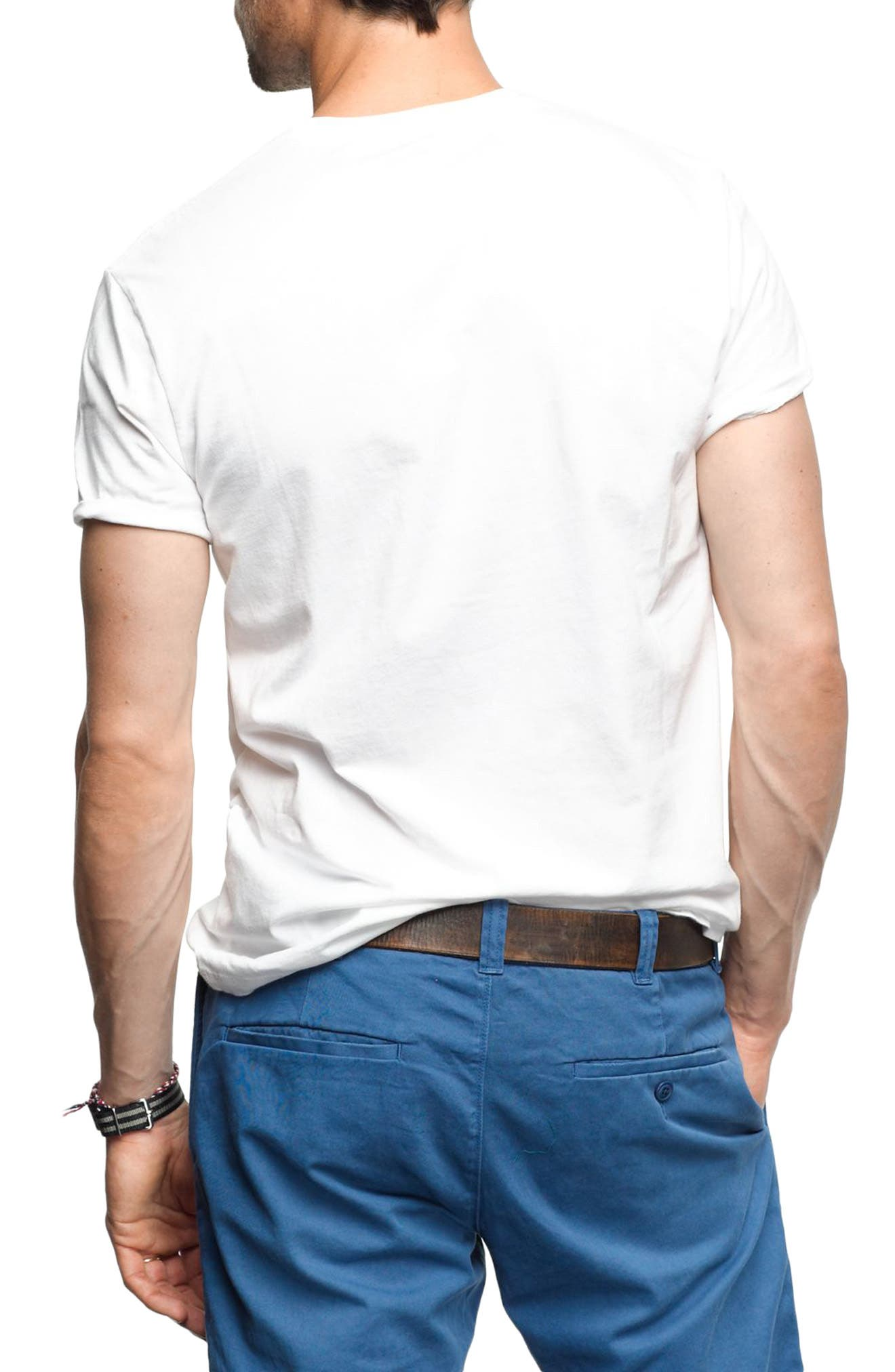 Alternate Image 2  - J.Crew Slim Fit Broken-In Pocket T-Shirt