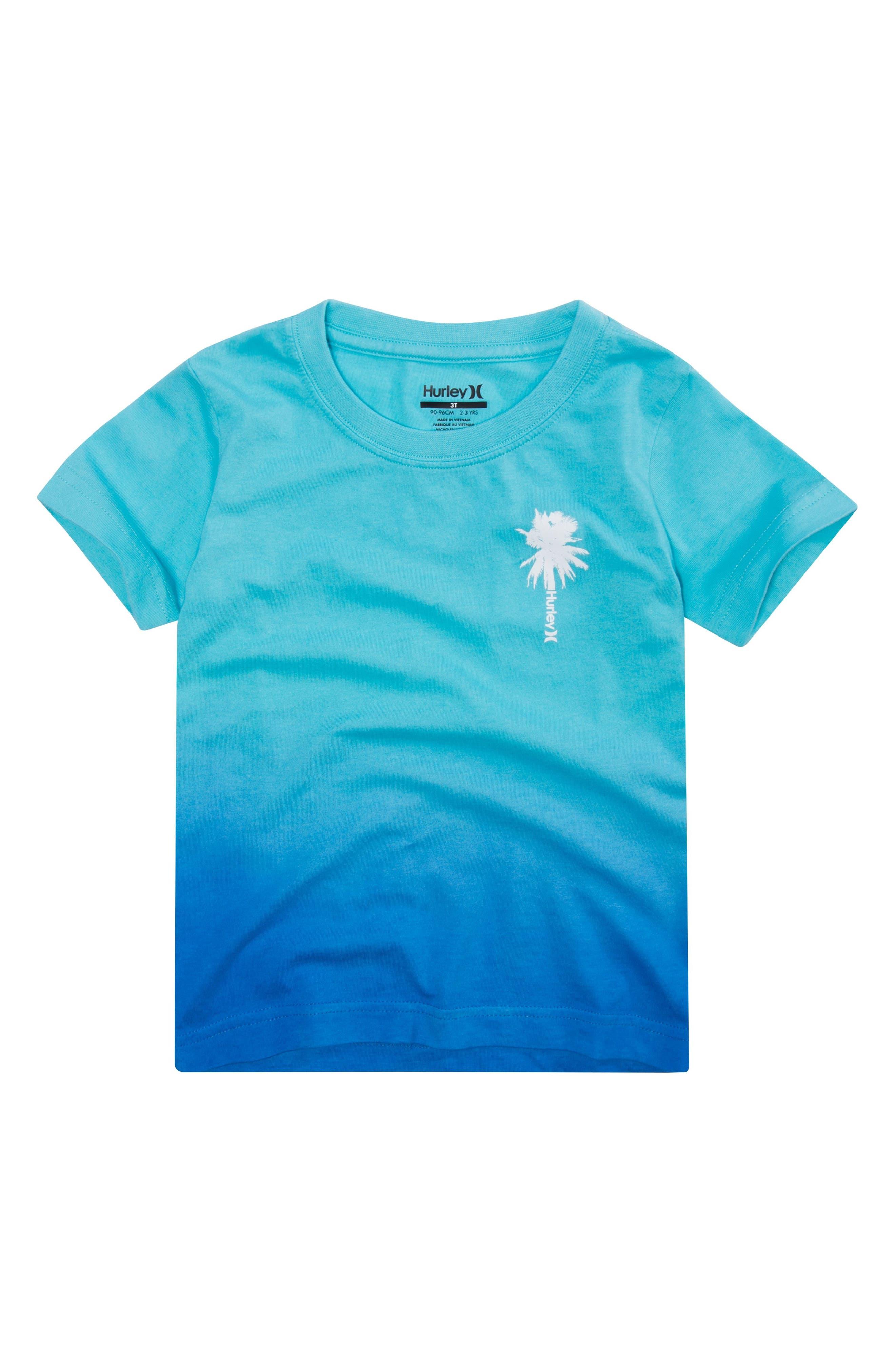 Trajectory Gradient T-Shirt,                         Main,                         color, Light Aqua