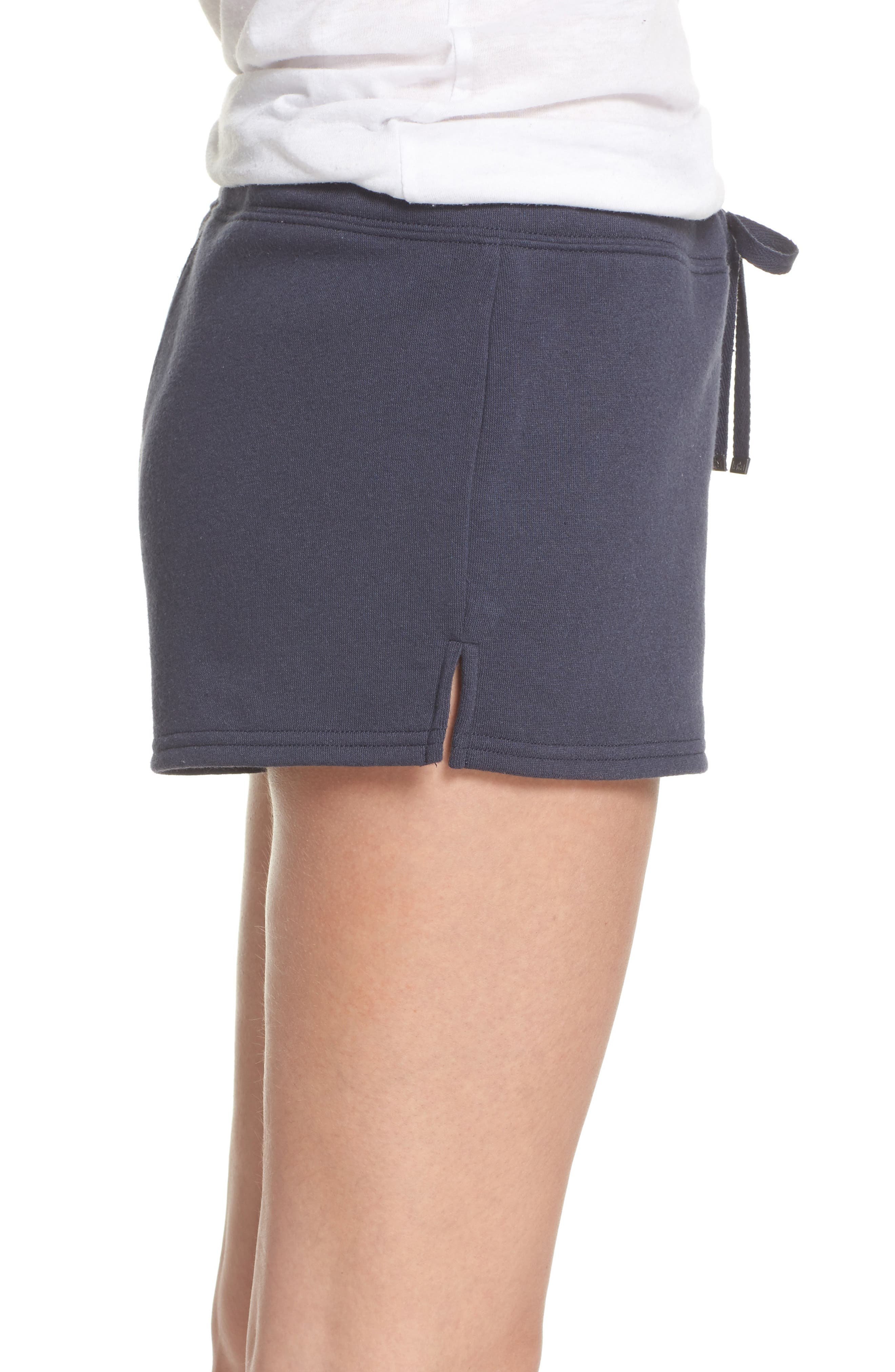 Take It Easy Lounge Shorts,                             Alternate thumbnail 3, color,                             Navy Blue
