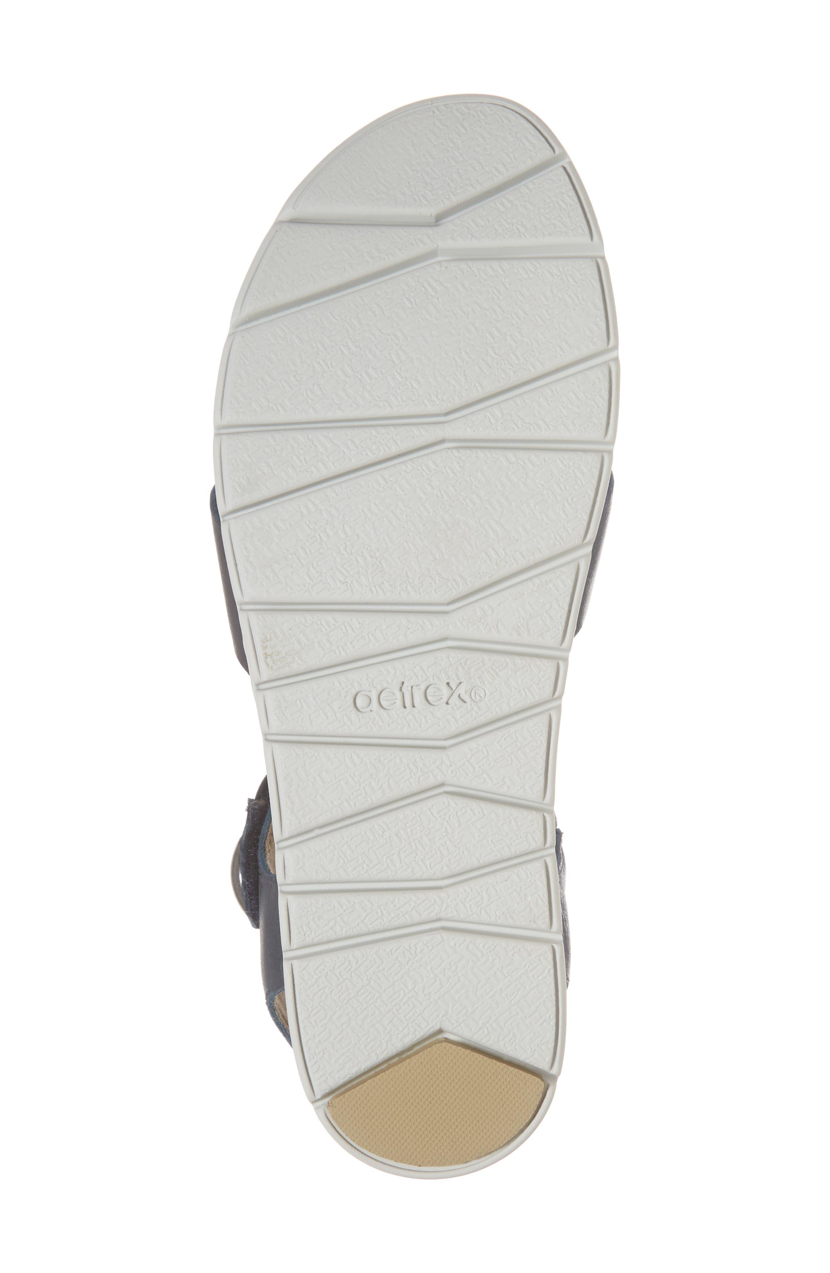 Piper Sandal,                             Alternate thumbnail 6, color,                             Navy Leather