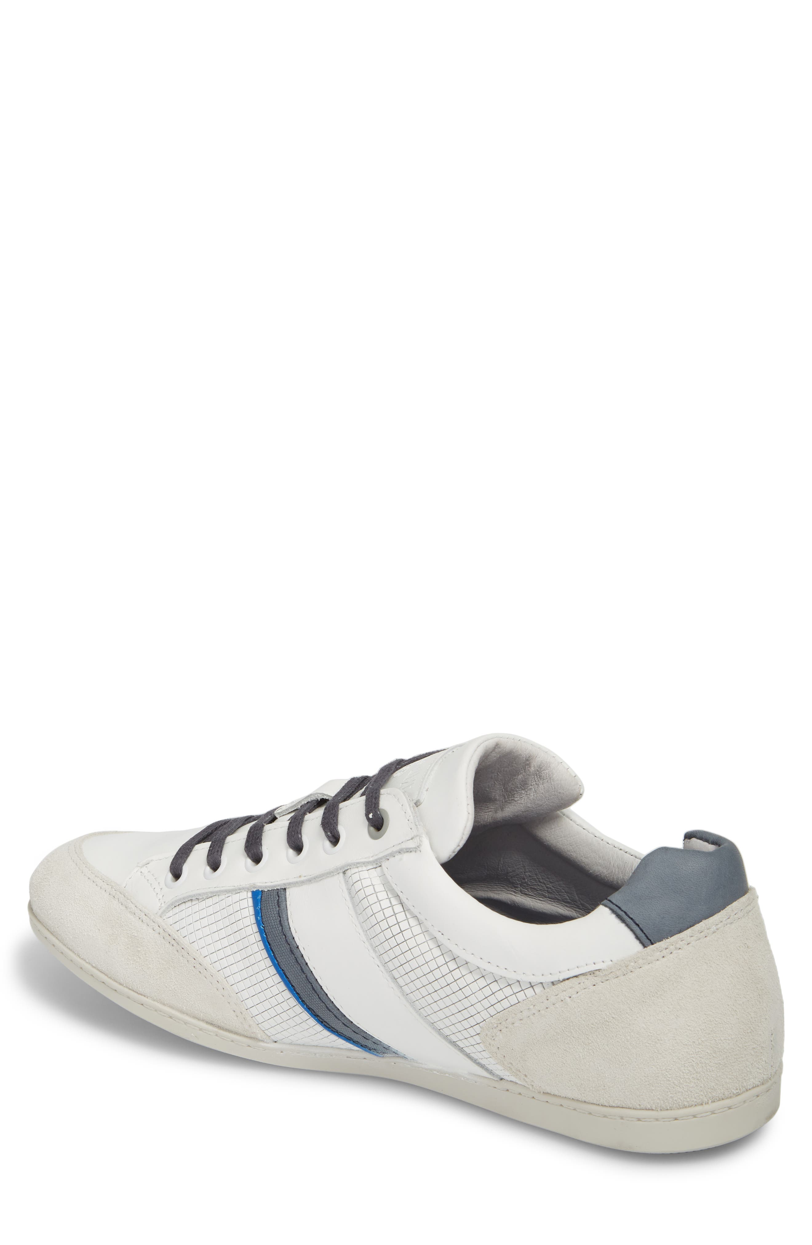 Bahamas Low Top Sneaker,                             Alternate thumbnail 2, color,                             Off White/ Navy Leather