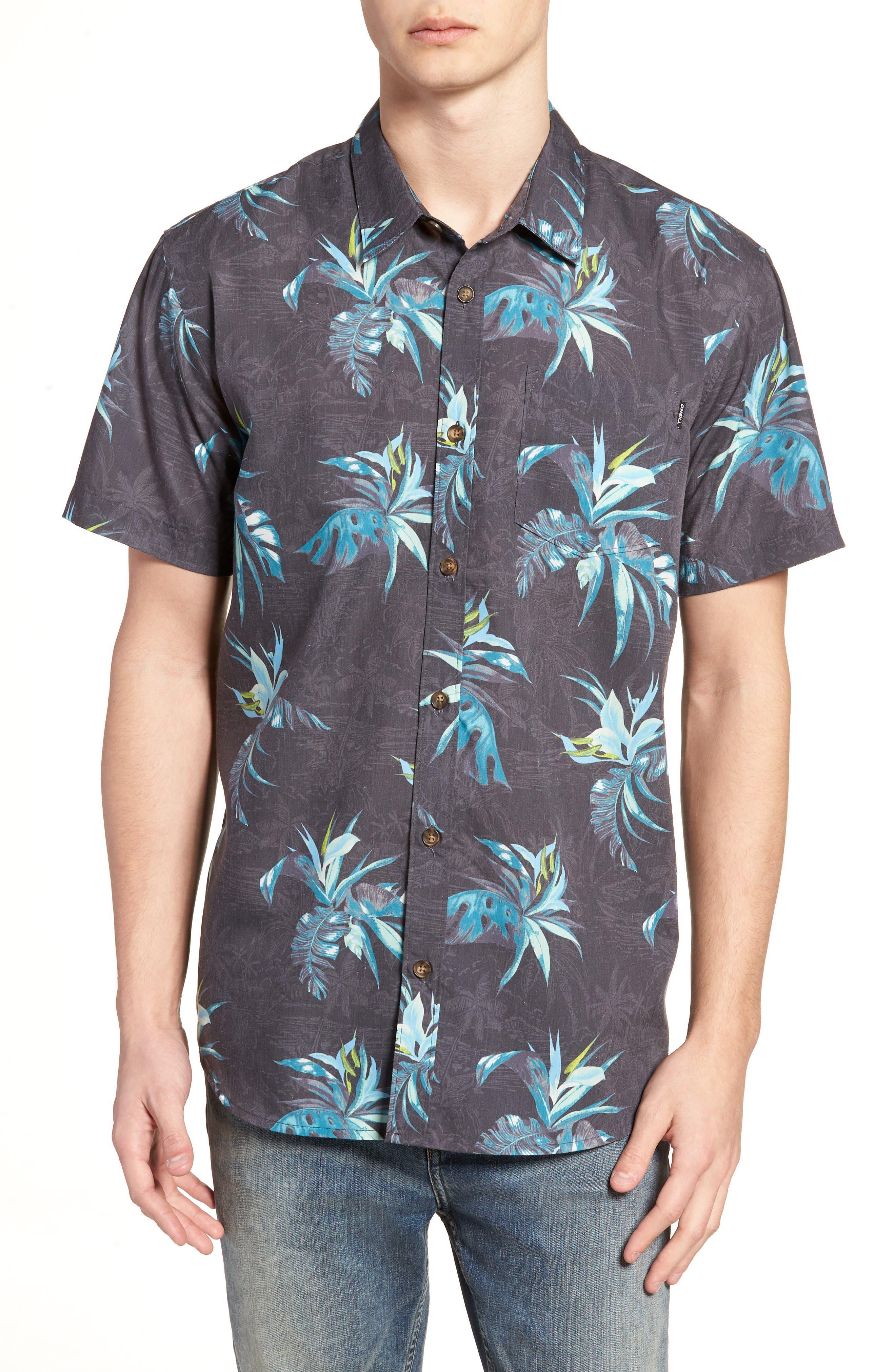 Islander Short Sleeve Shirt,                         Main,                         color, Mint
