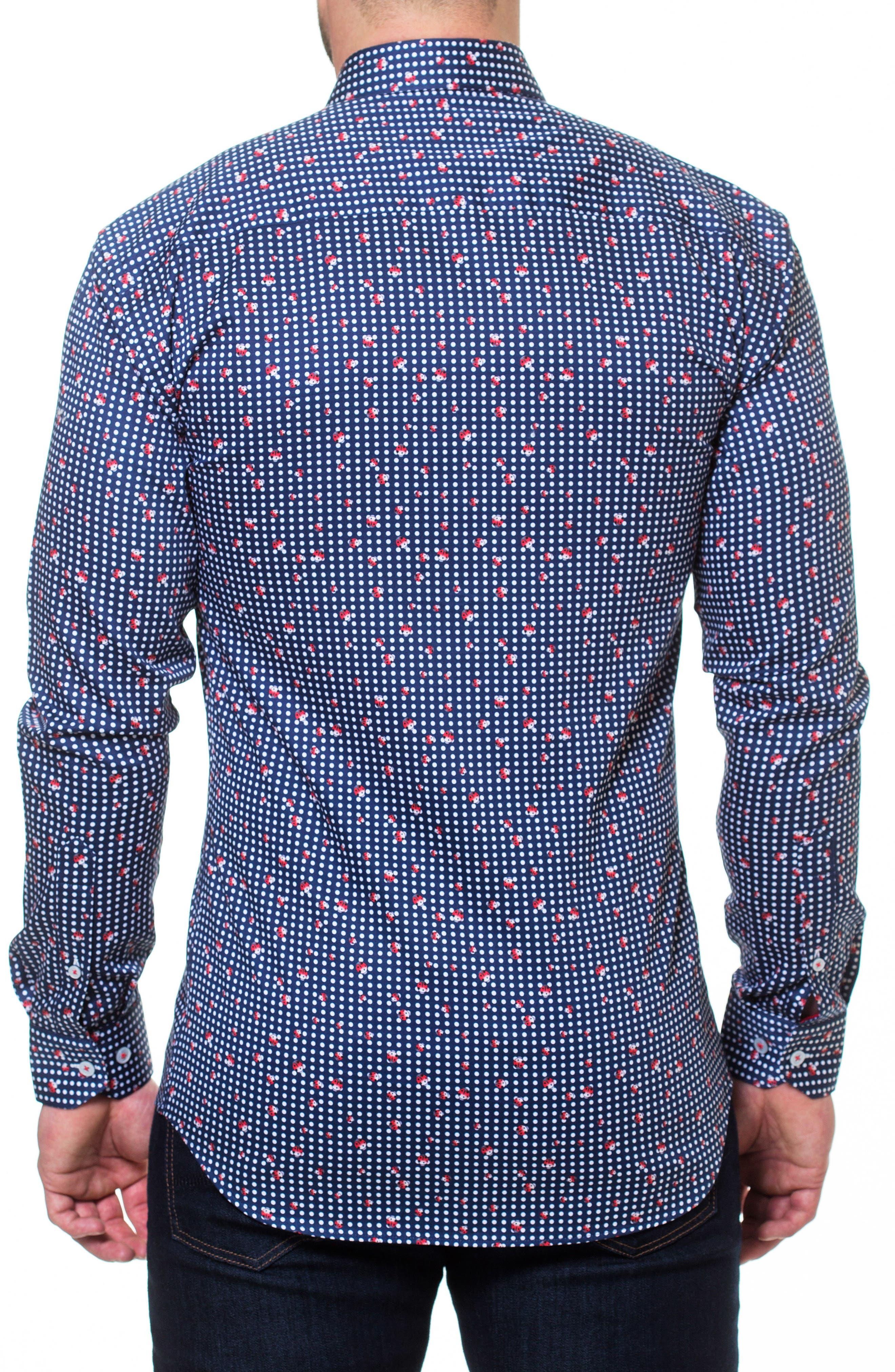 Luxor Ladybug Sport Shirt,                             Alternate thumbnail 2, color,                             Blue