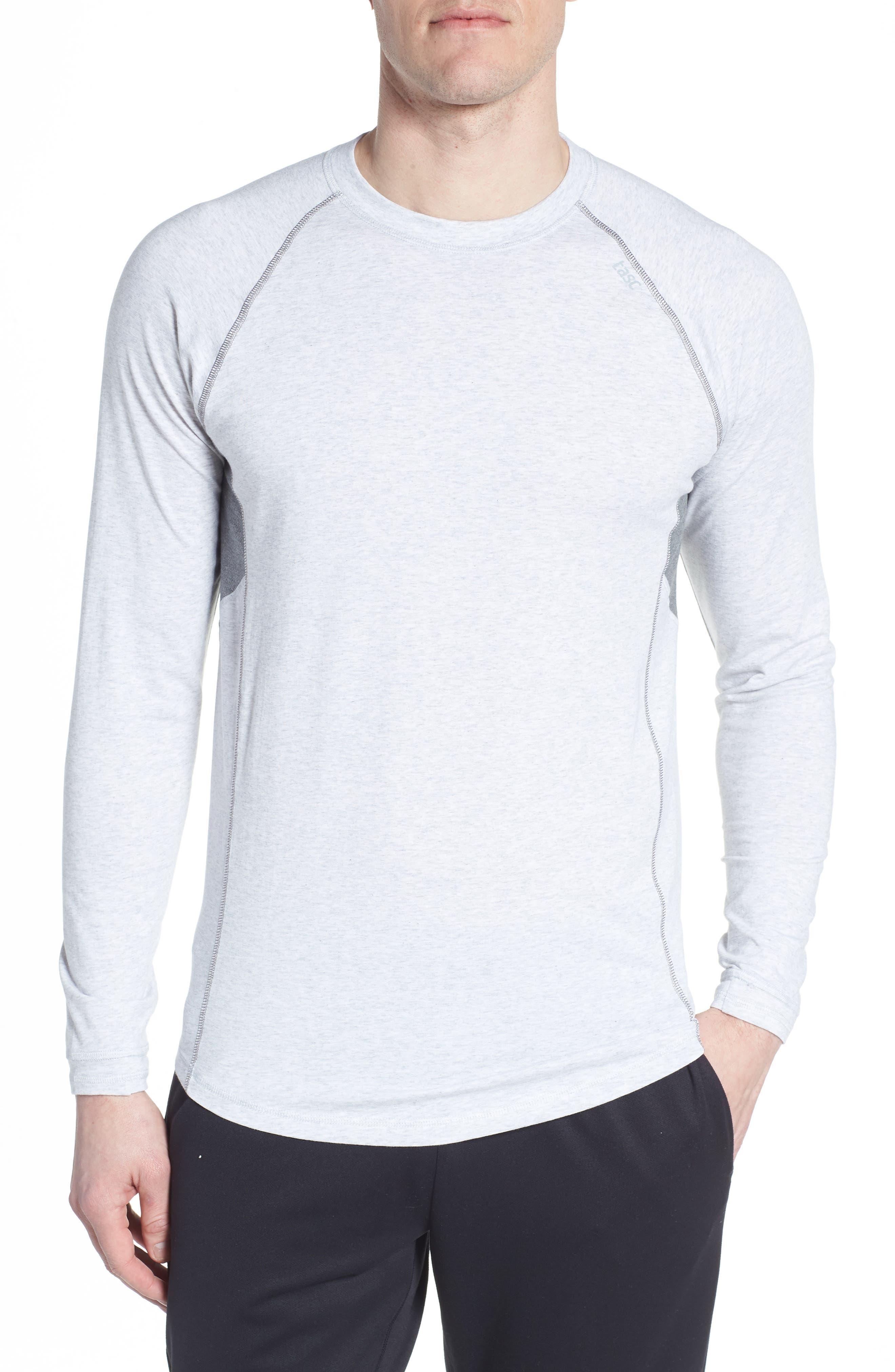 Charge II Long Sleeve Shirt,                             Main thumbnail 1, color,                             Light Heather Gray