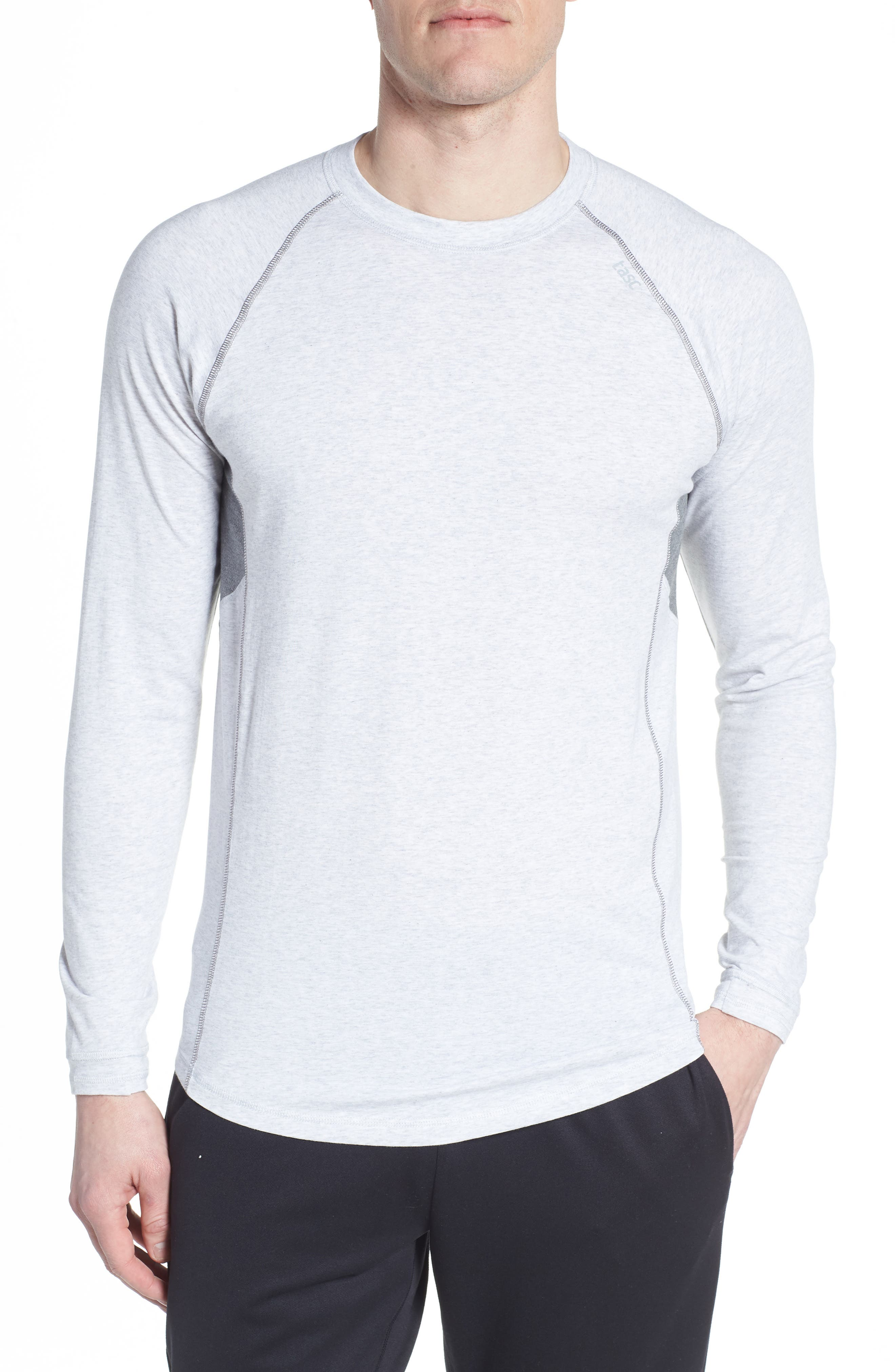 Charge II Long Sleeve Shirt,                         Main,                         color, Light Heather Gray