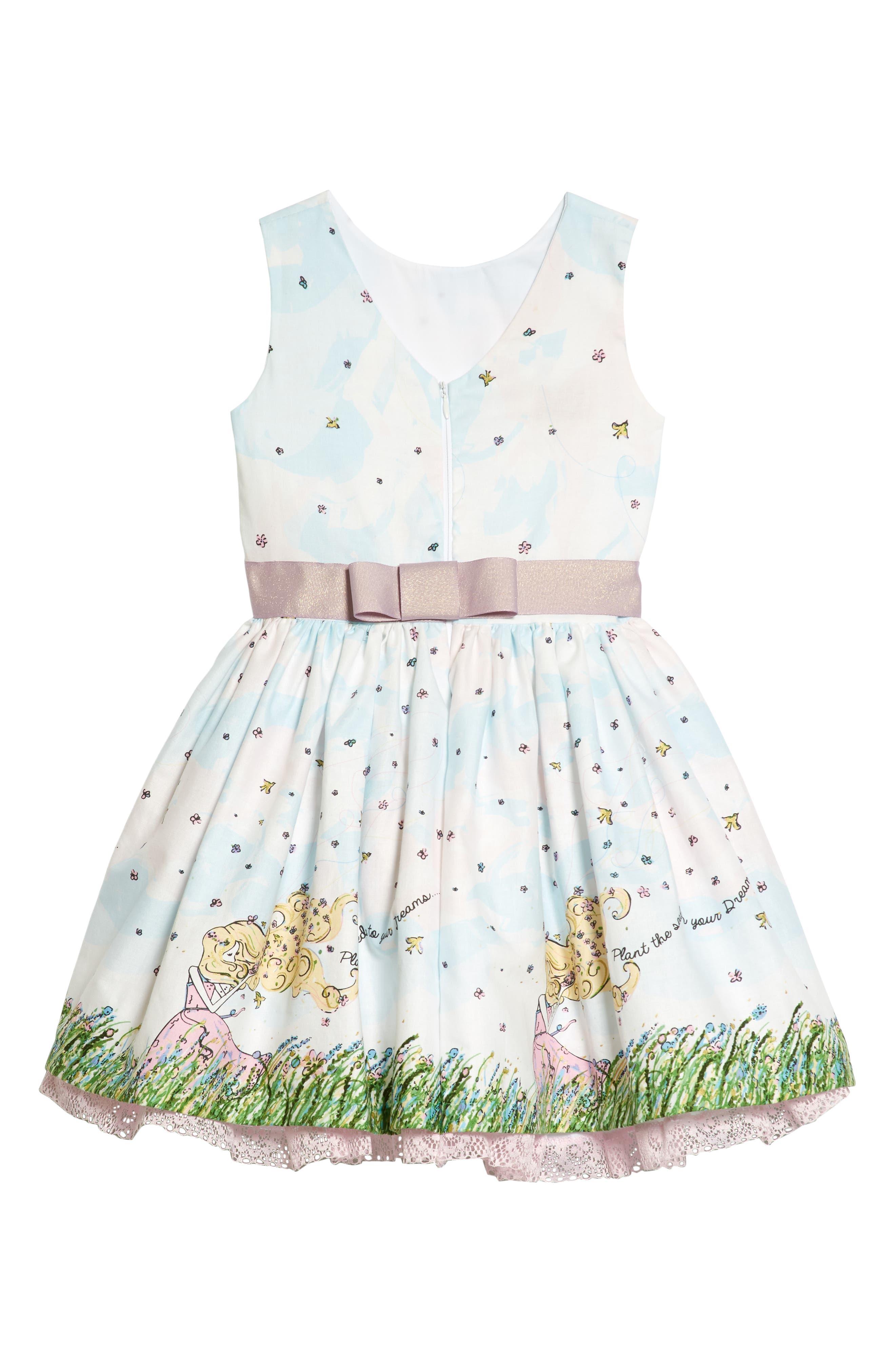 Flower Girl Party Dress,                             Alternate thumbnail 2, color,                             White