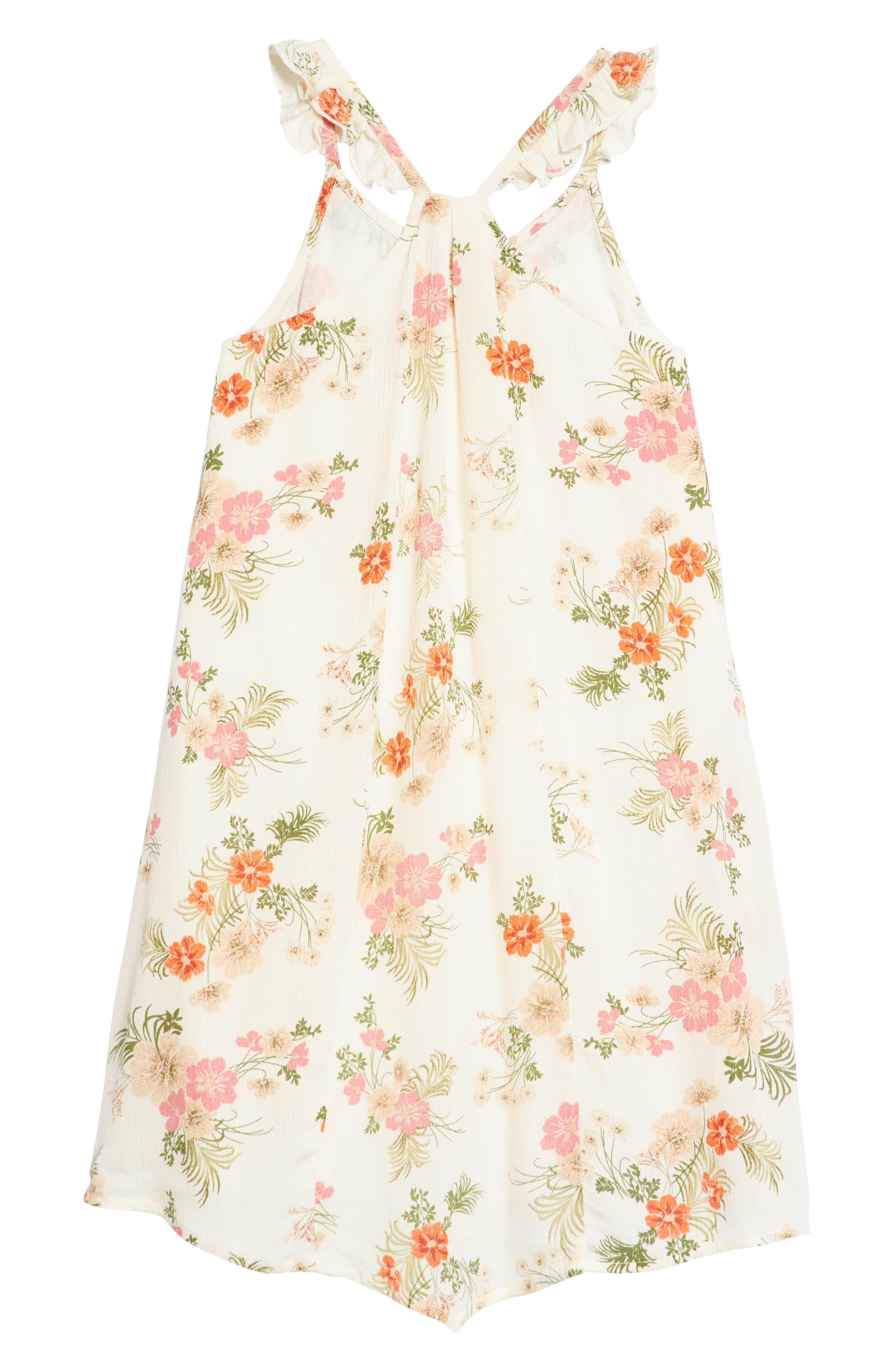 Ashley Print Dress,                             Alternate thumbnail 3, color,                             White Floral
