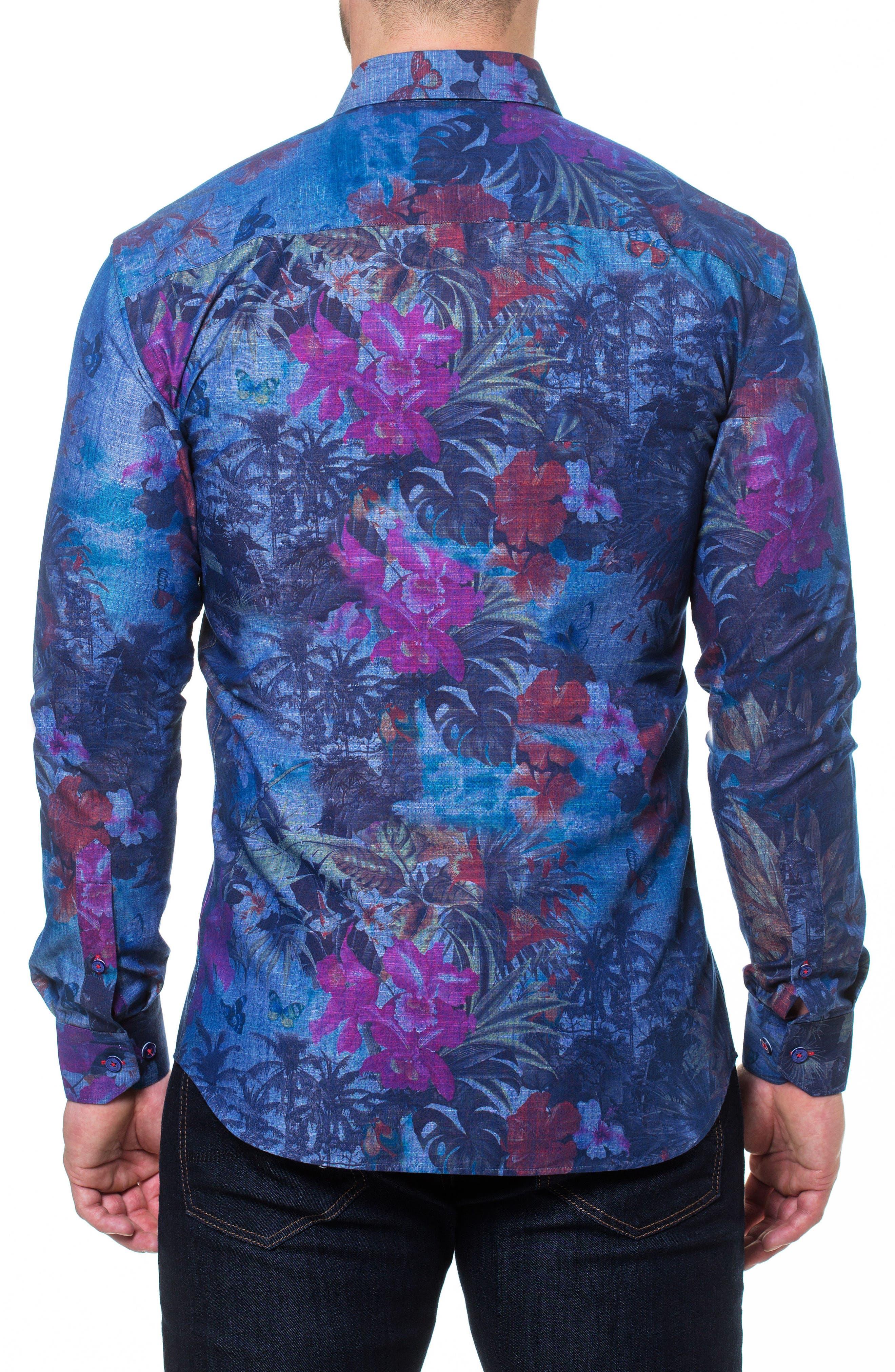 Wall Street Paradise Sport Shirt,                             Alternate thumbnail 2, color,                             Blue
