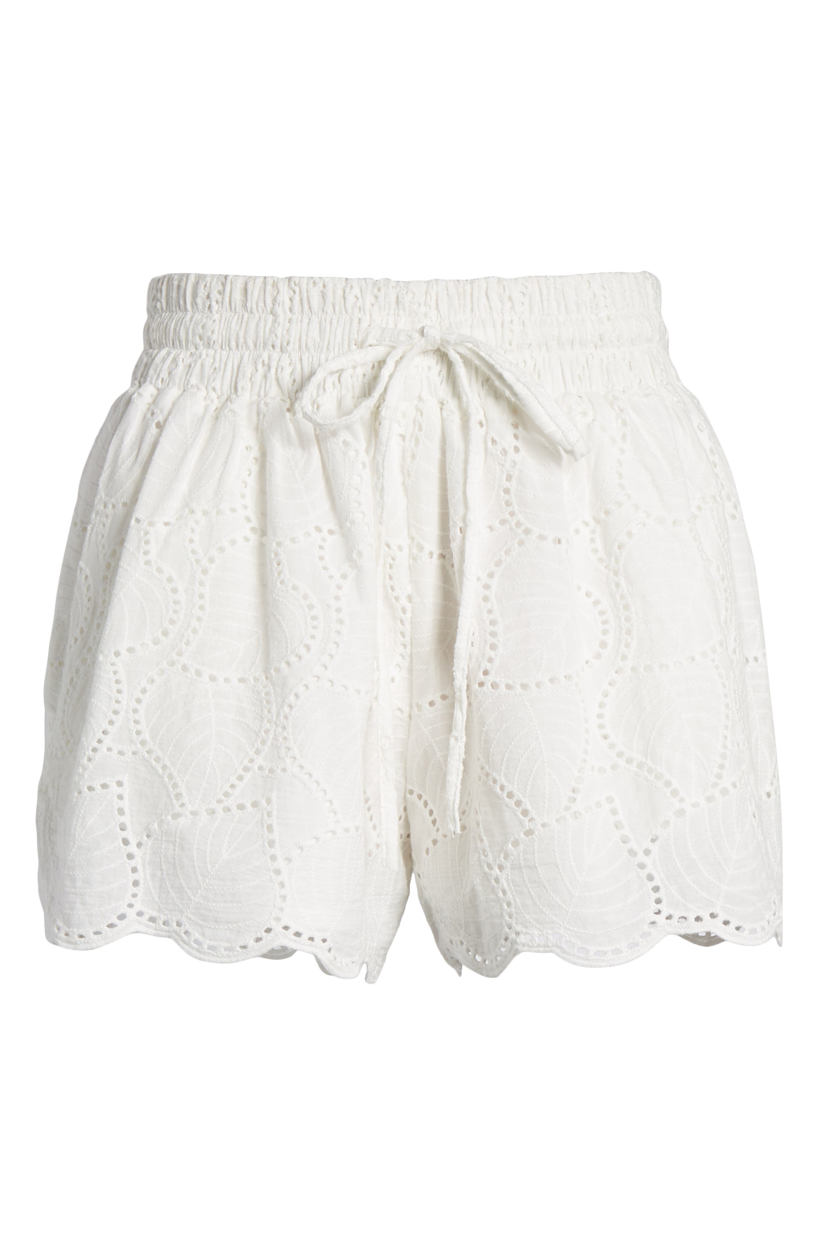 Bishop + Young Eyelet Shorts,                             Alternate thumbnail 6, color,                             White