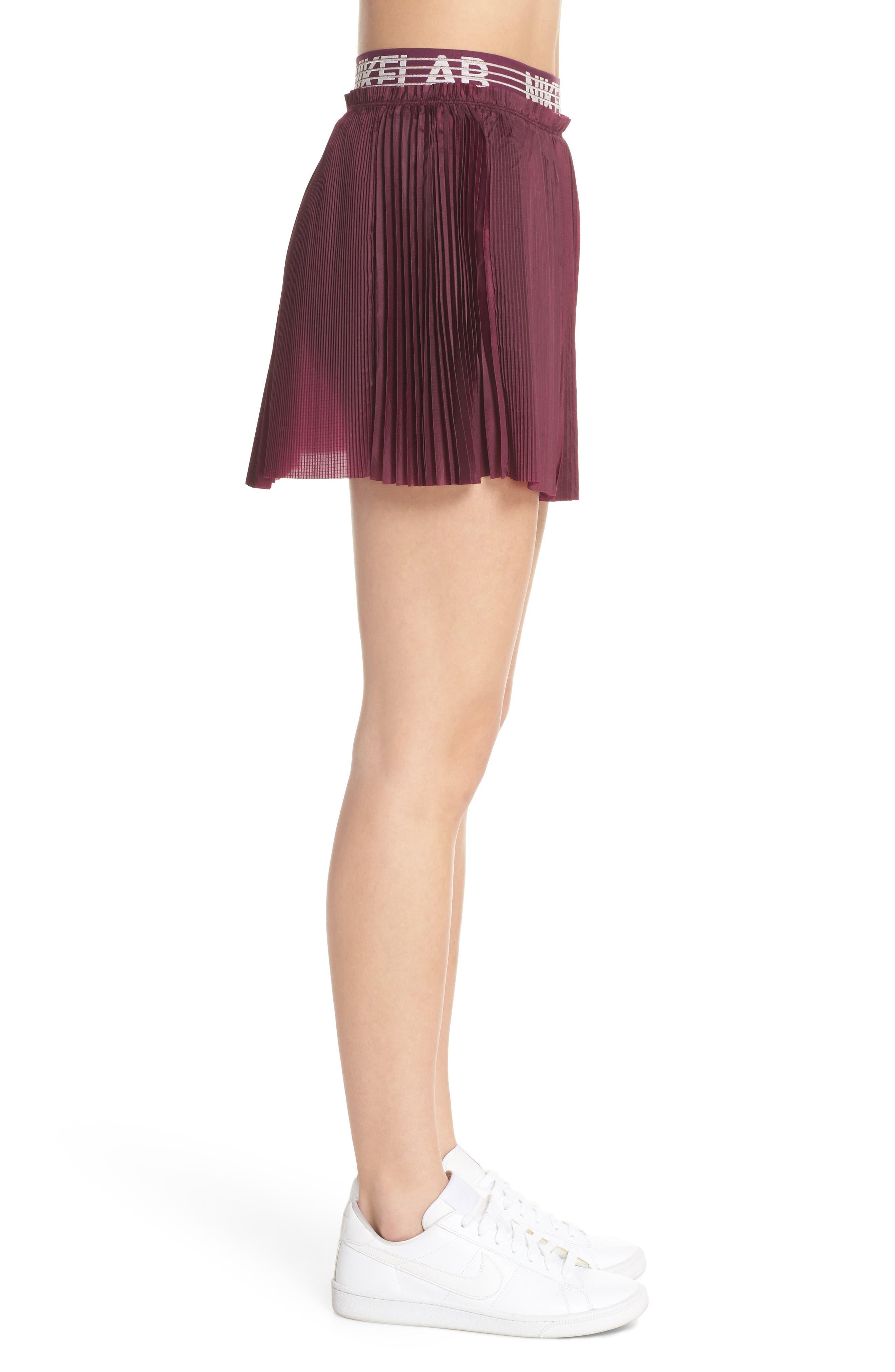 NikeLab Collection Dri-FIT Tennis Skirt,                             Alternate thumbnail 3, color,                             Bordeaux