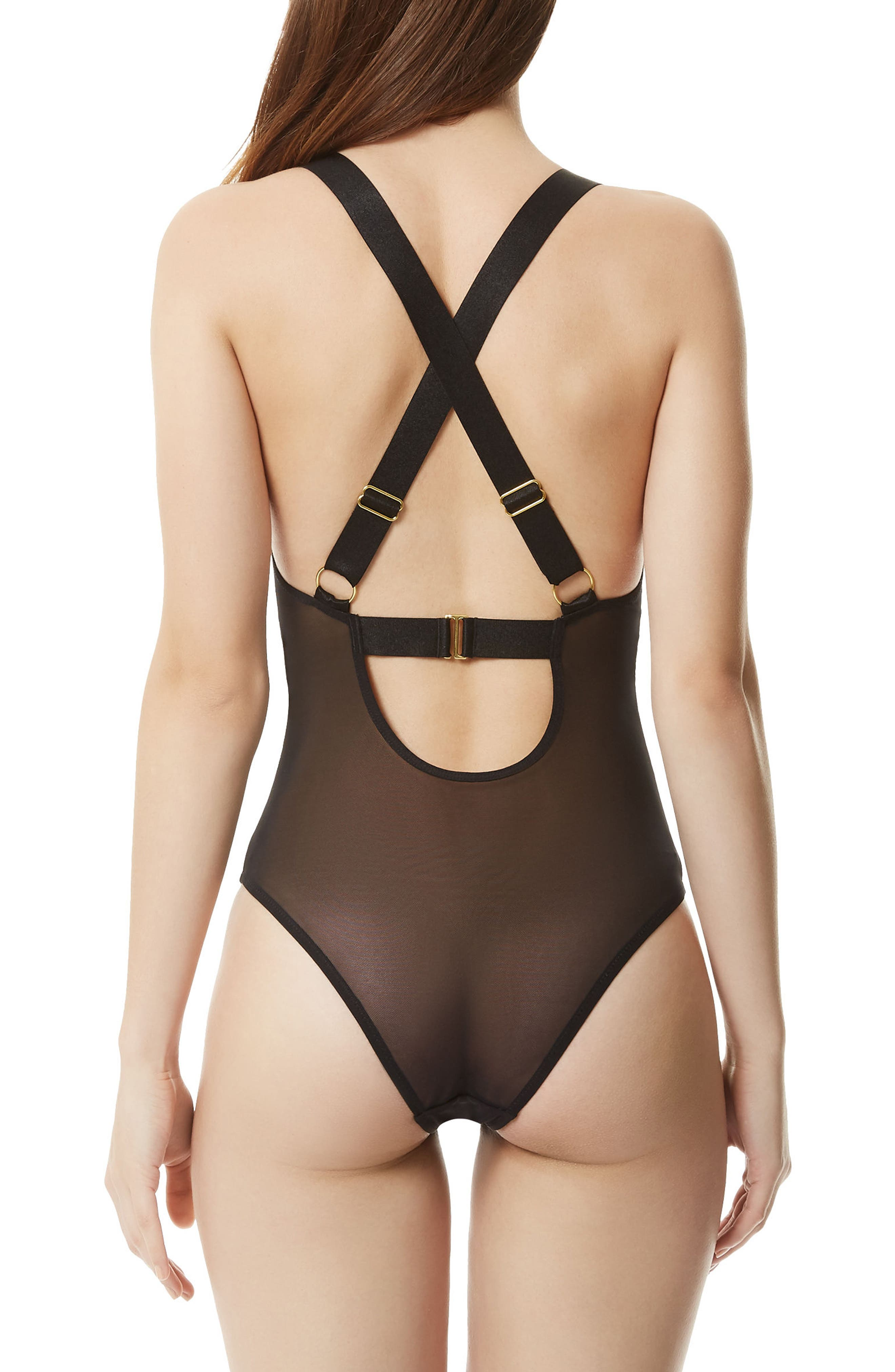 Marta Bodysuit,                             Alternate thumbnail 2, color,                             Black