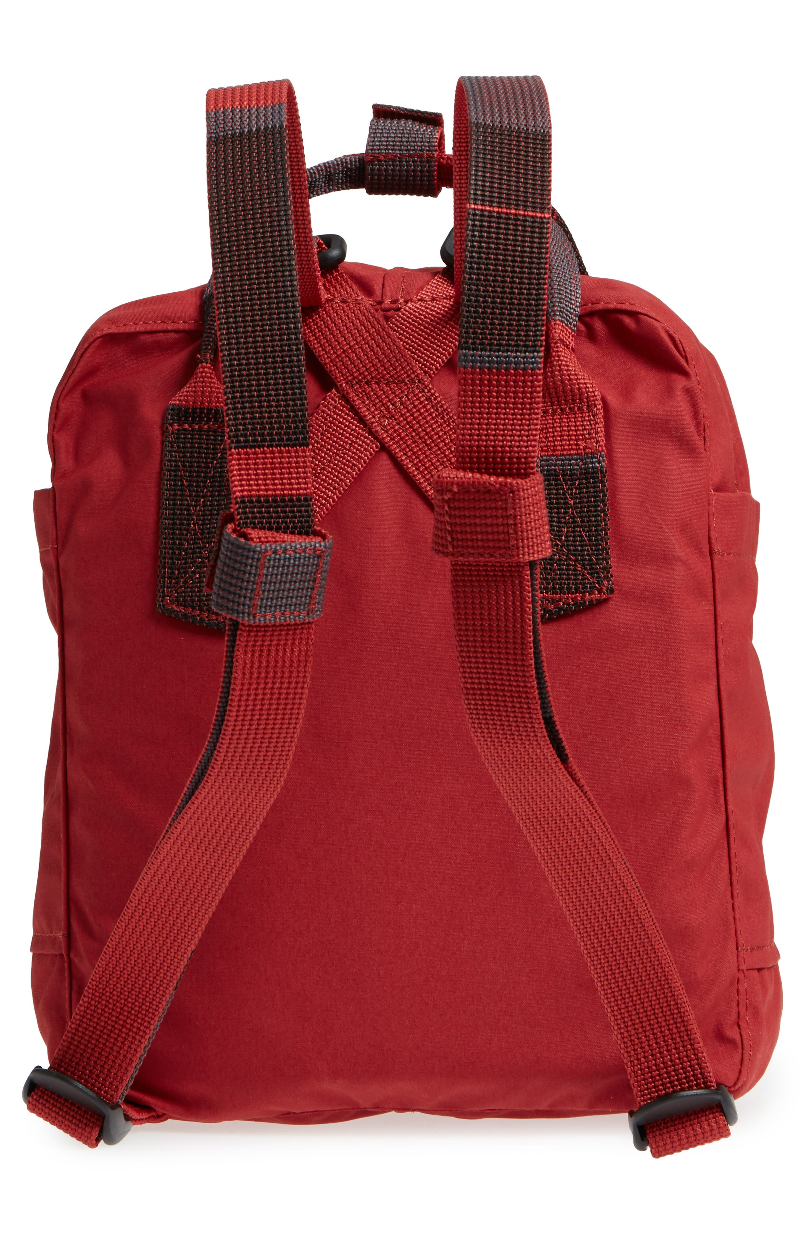 'Mini Kånken' Water Resistant Backpack,                             Alternate thumbnail 3, color,                             Deep Red Blocked