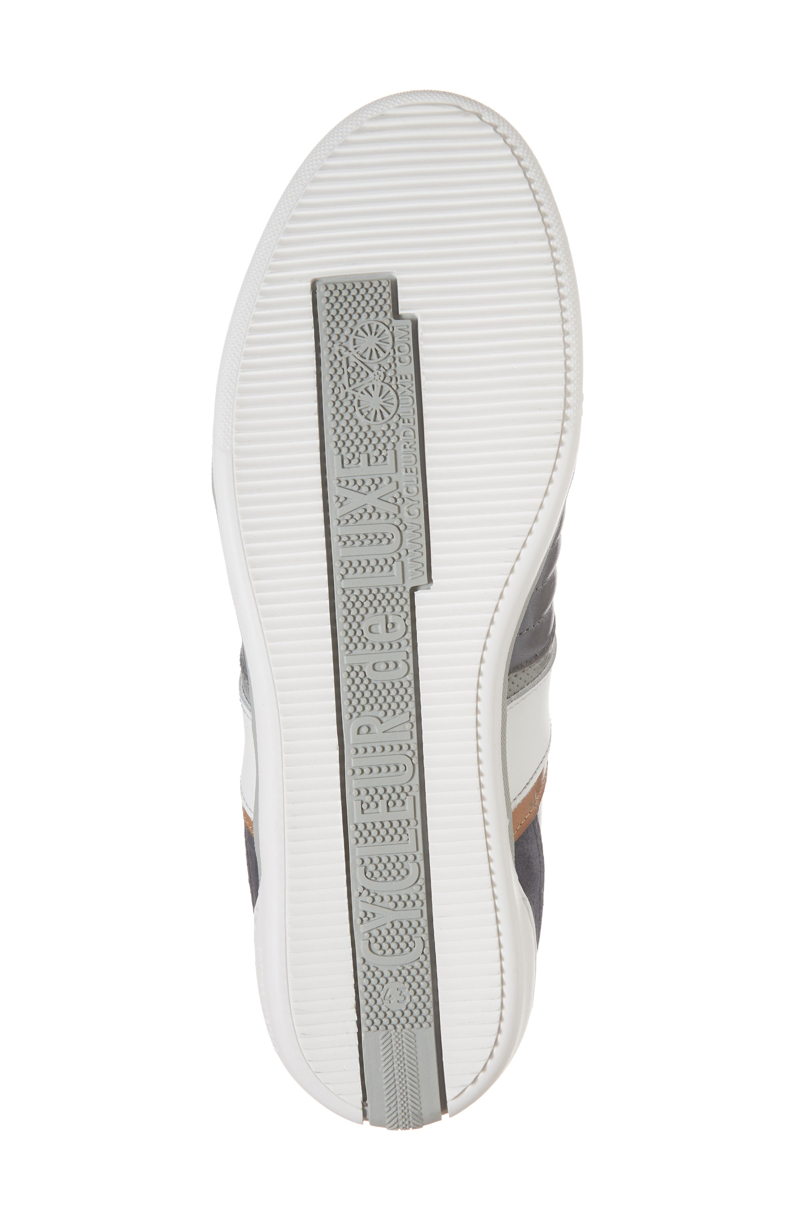 Solo Low Top Sneaker,                             Alternate thumbnail 6, color,                             Denim/ White/ Cognac Leather