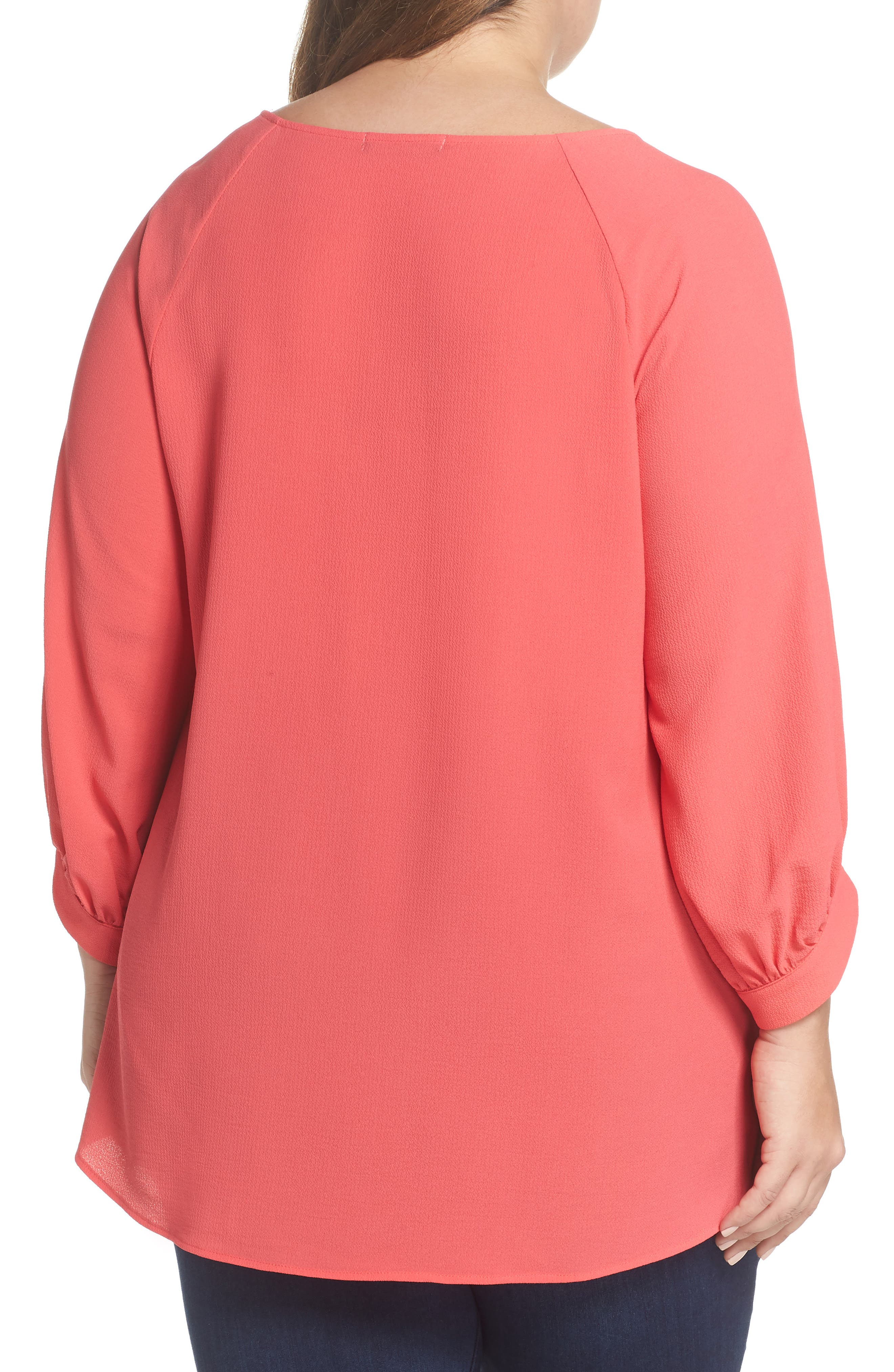 x Living in Yellow Maggie Twist Hem Top,                             Alternate thumbnail 3, color,                             Poppy