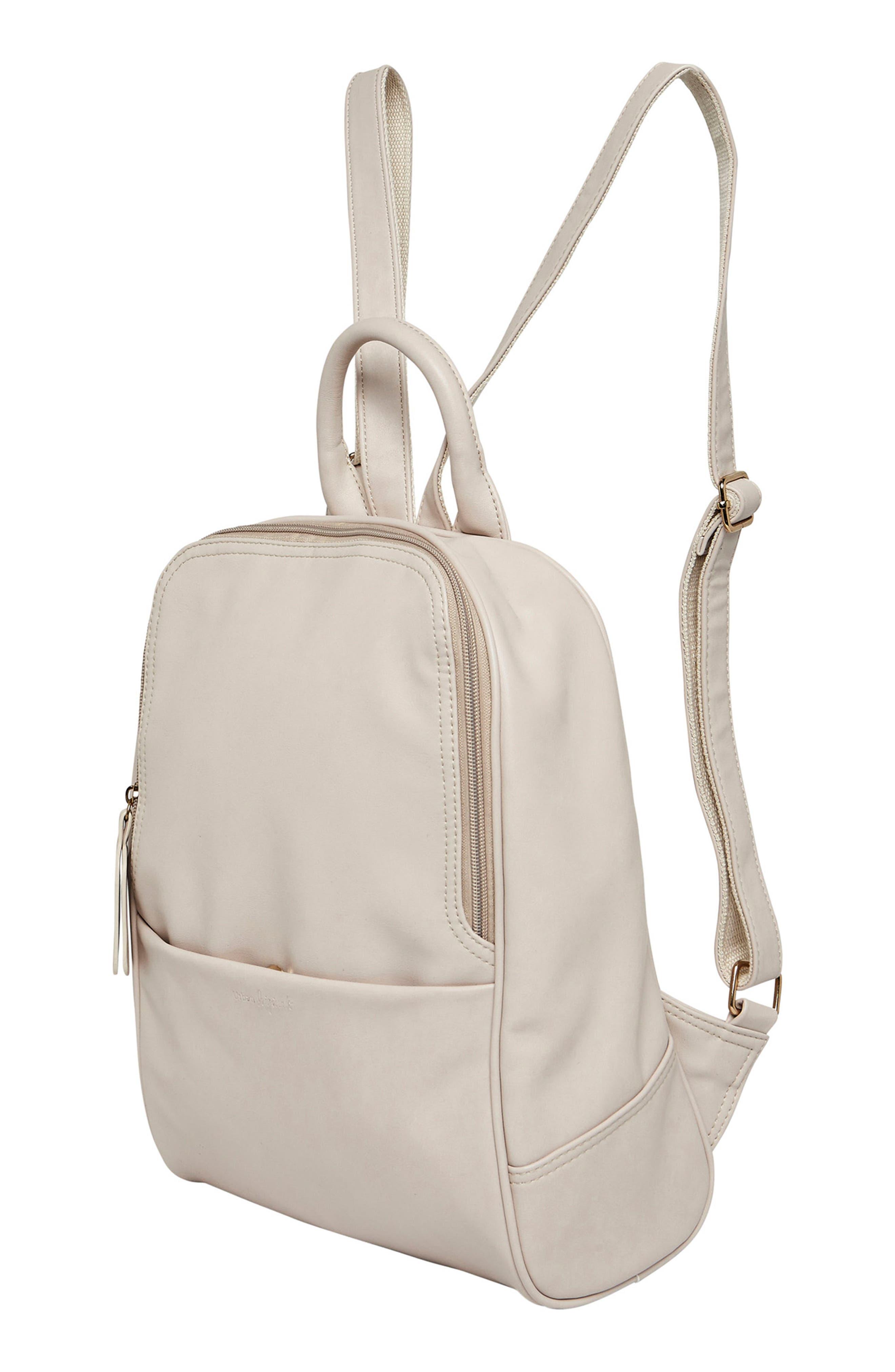 Evolution Vegan Leather Backpack,                             Alternate thumbnail 4, color,                             White