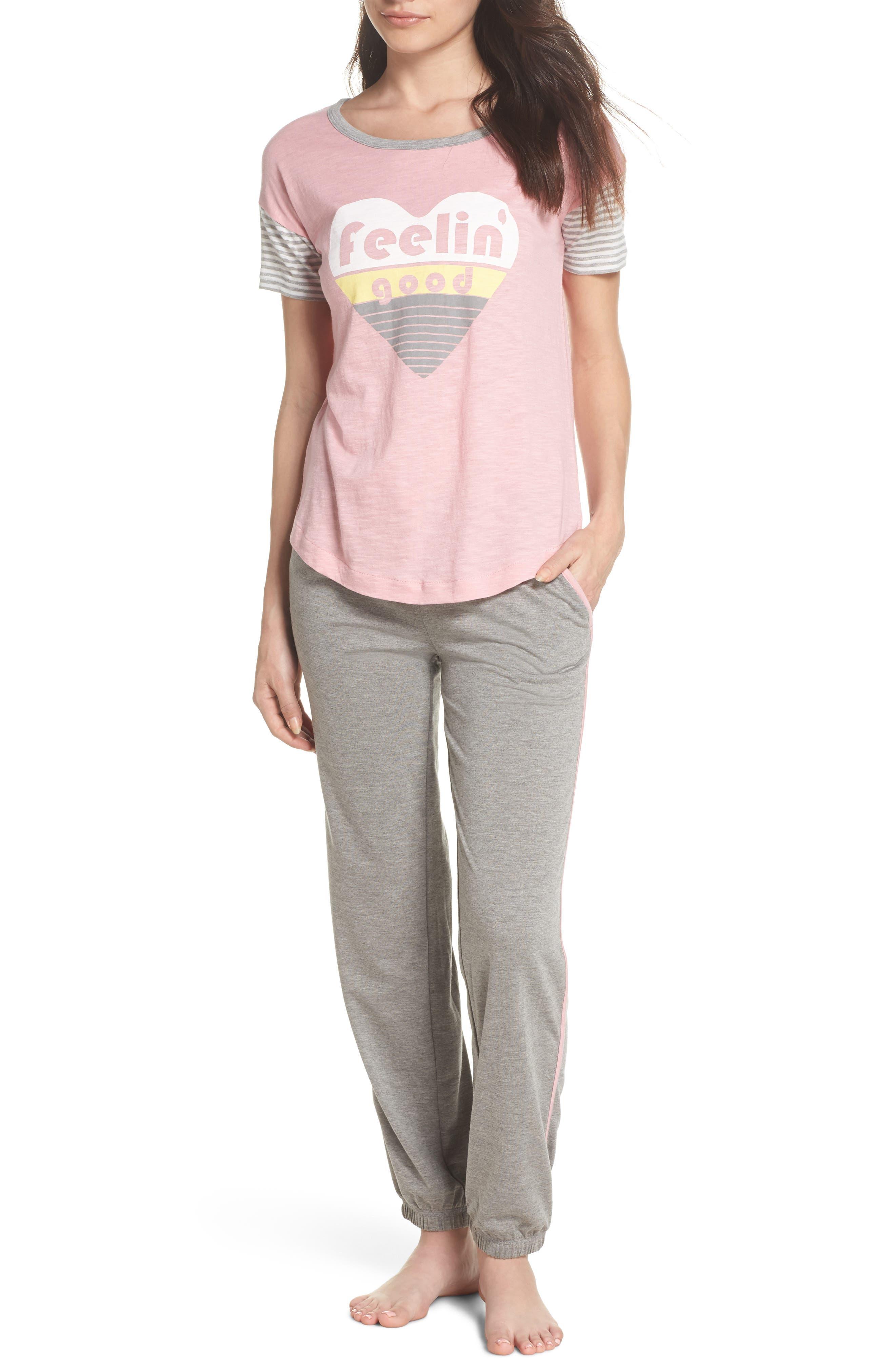 Pajamas Set,                         Main,                         color, H Grey