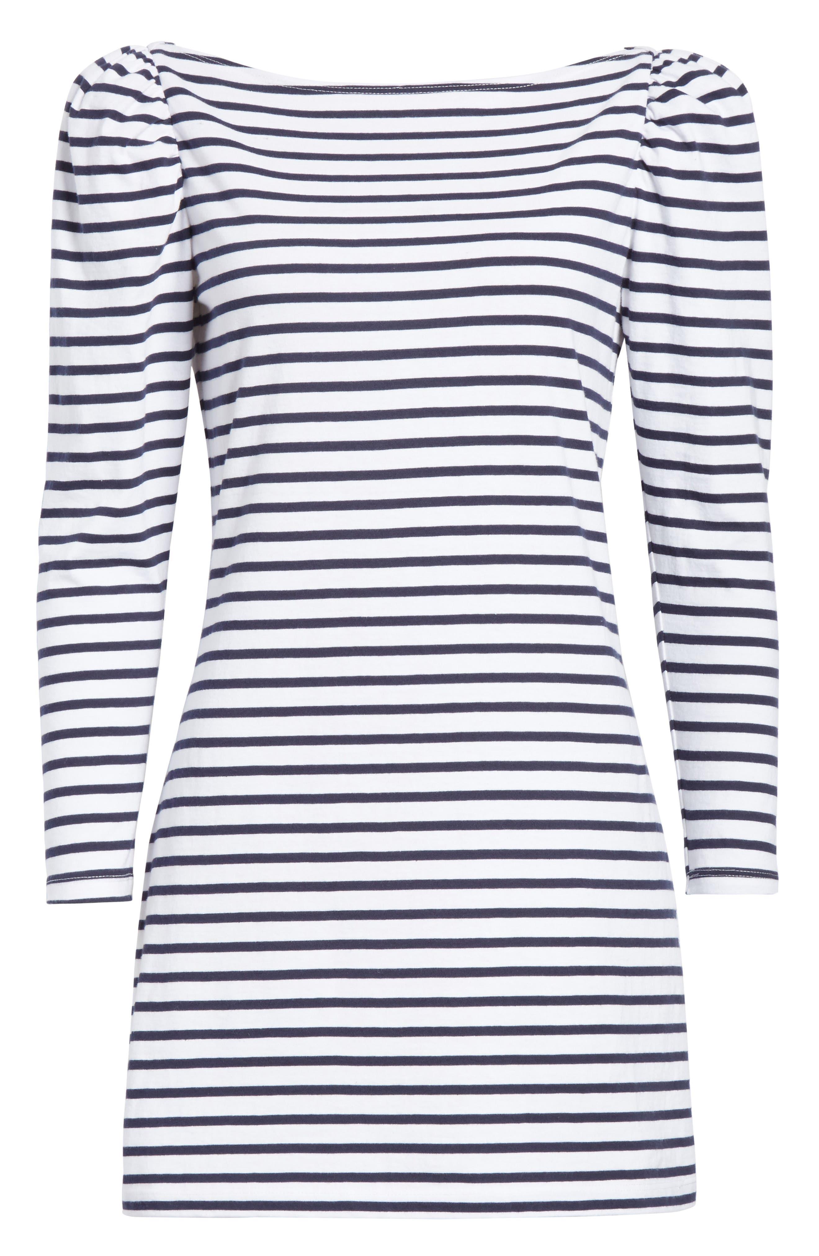 Stevens Stripe Dress,                             Alternate thumbnail 6, color,                             Midnight