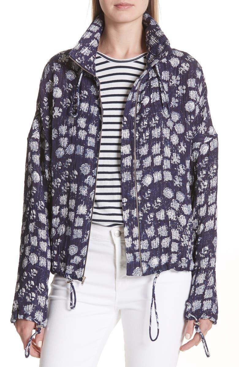 Hawkins Print Silk Blend Jacket