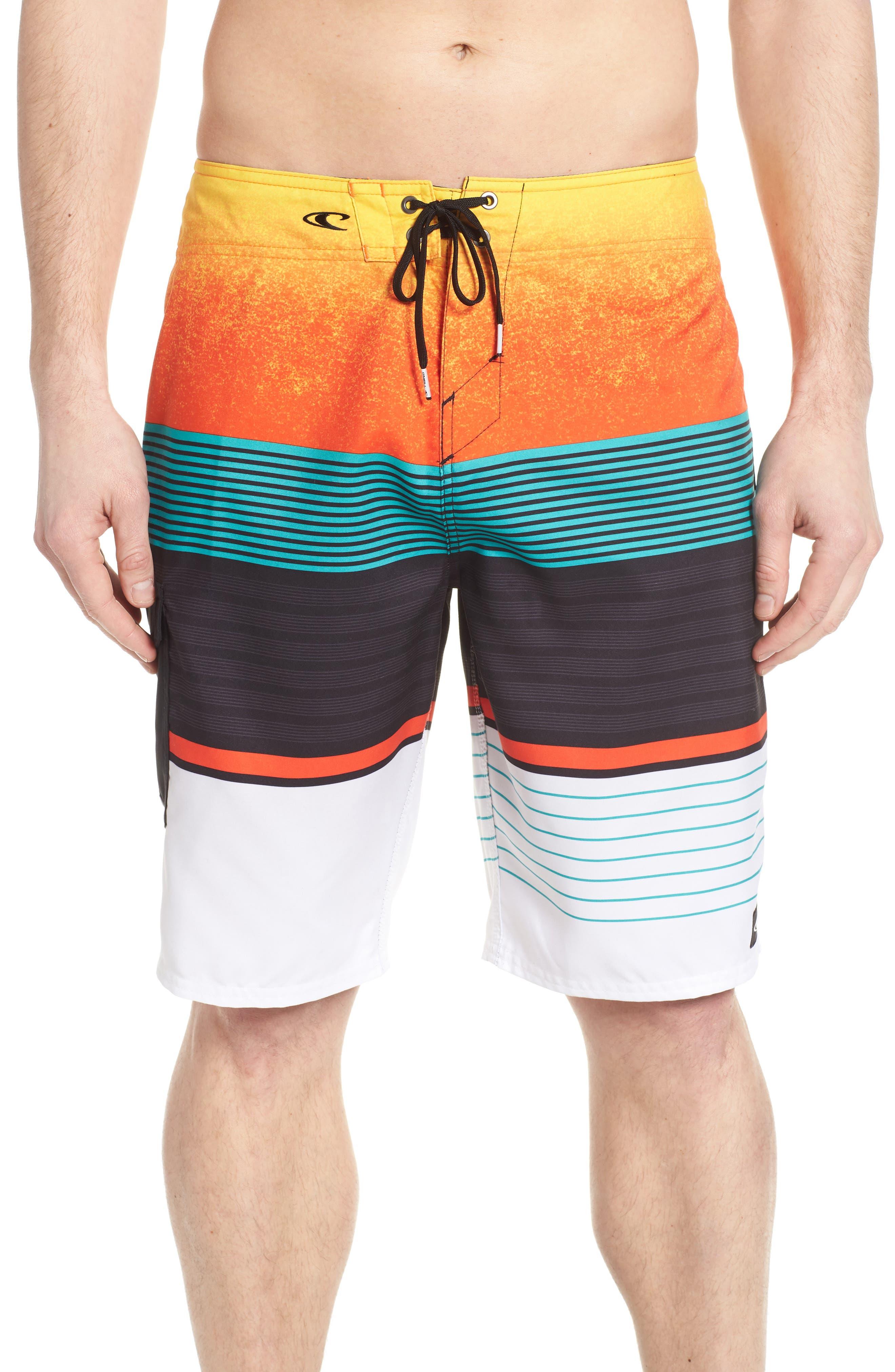 Lennox Board Shorts,                             Main thumbnail 1, color,                             Orange