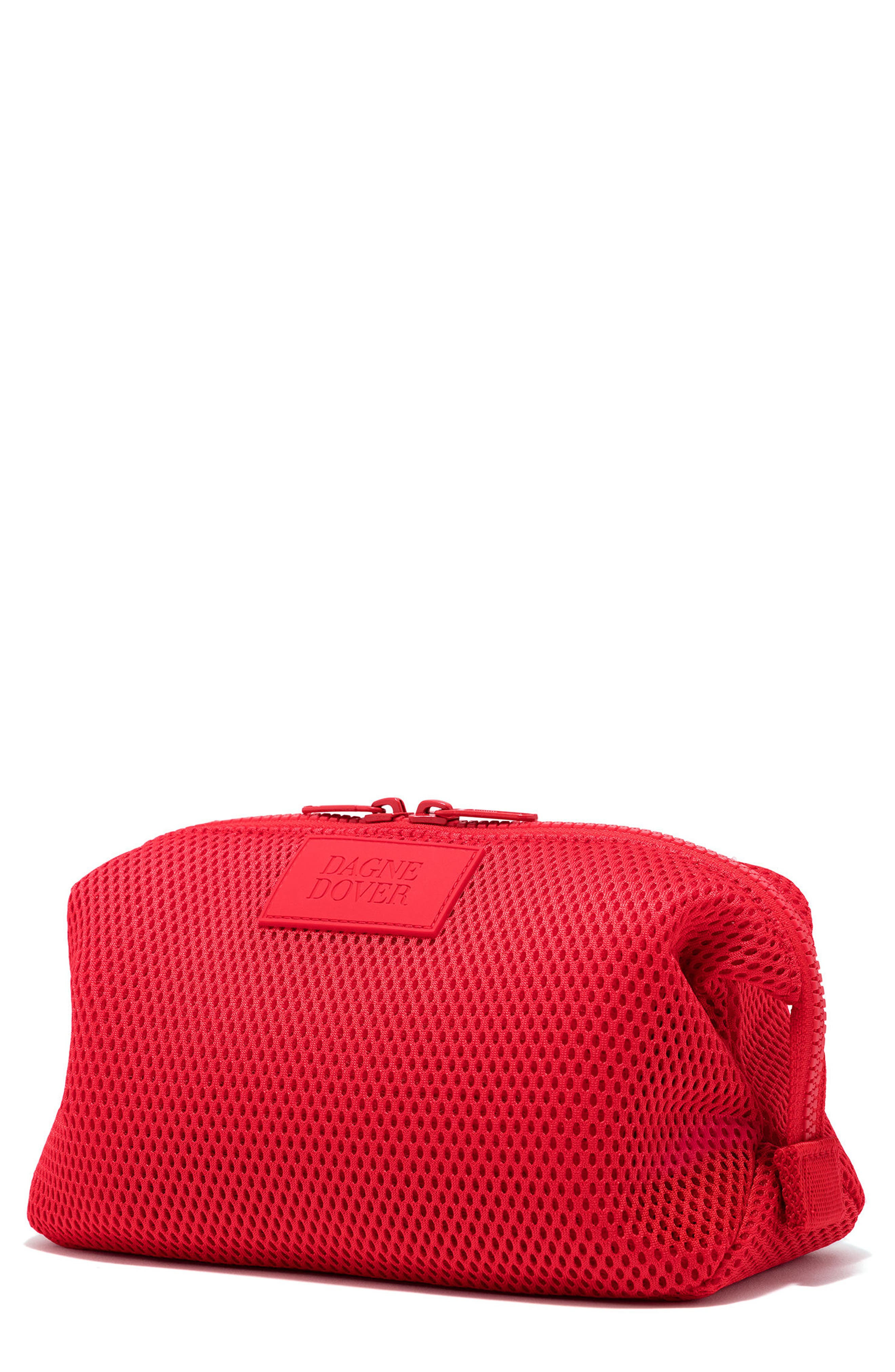 Large Hunter Neoprene Toiletry Bag,                             Main thumbnail 1, color,                             Poppy Air Mesh