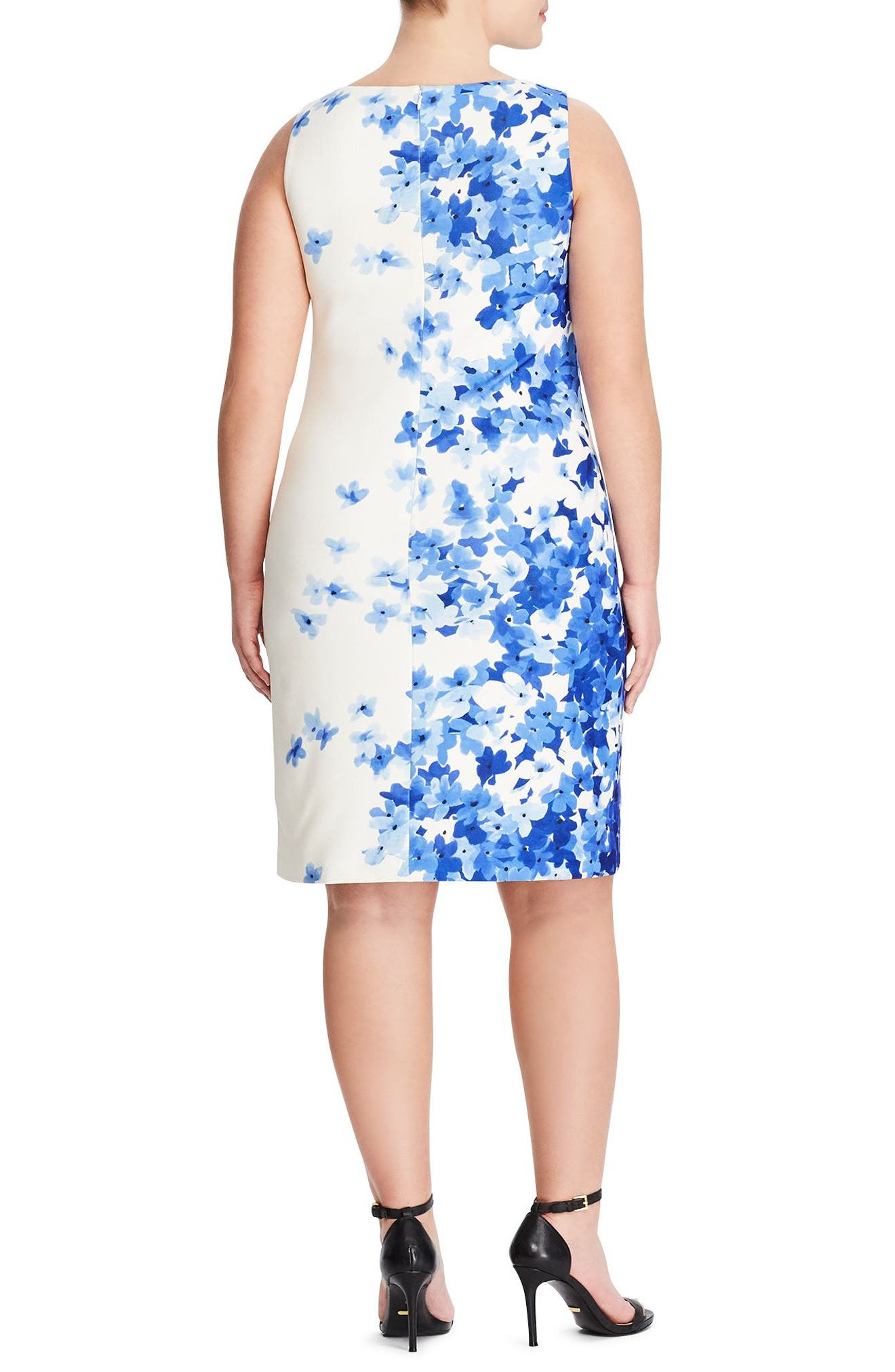 Toralina Caspian Sea Border Sheath Dress,                             Alternate thumbnail 2, color,                             Col. Cream-Blue-Multi