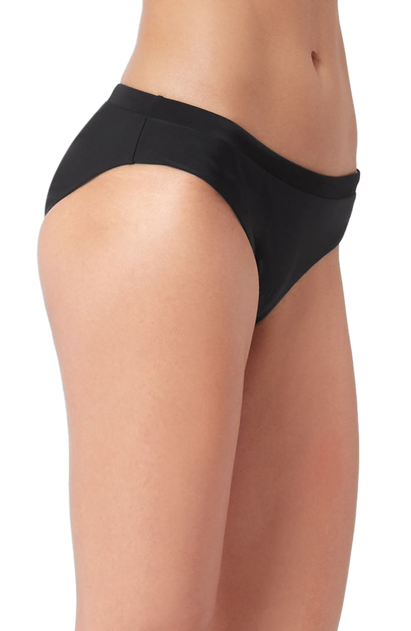Offshore Reversible Bikini Bottoms,                             Alternate thumbnail 5, color,                             Black