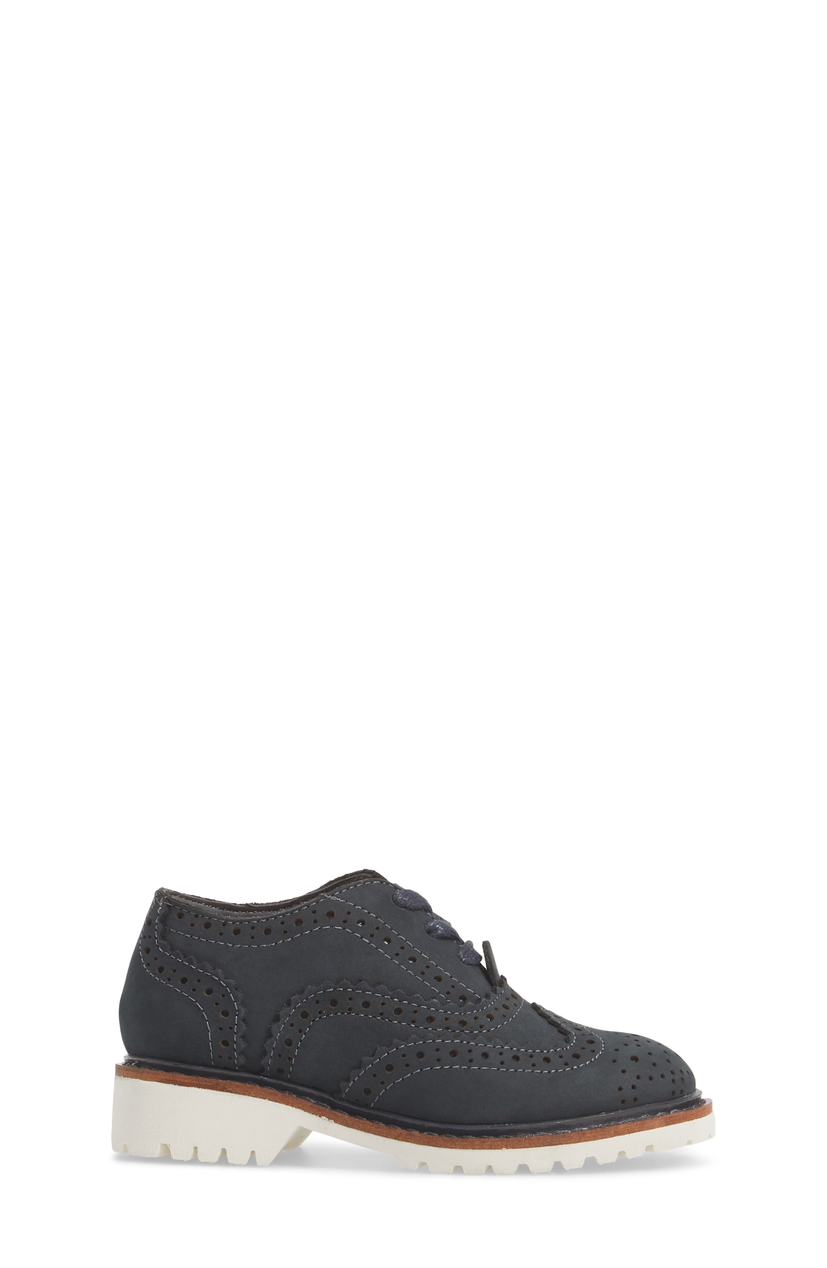 Wingtip Oxford,                             Alternate thumbnail 3, color,                             Navy