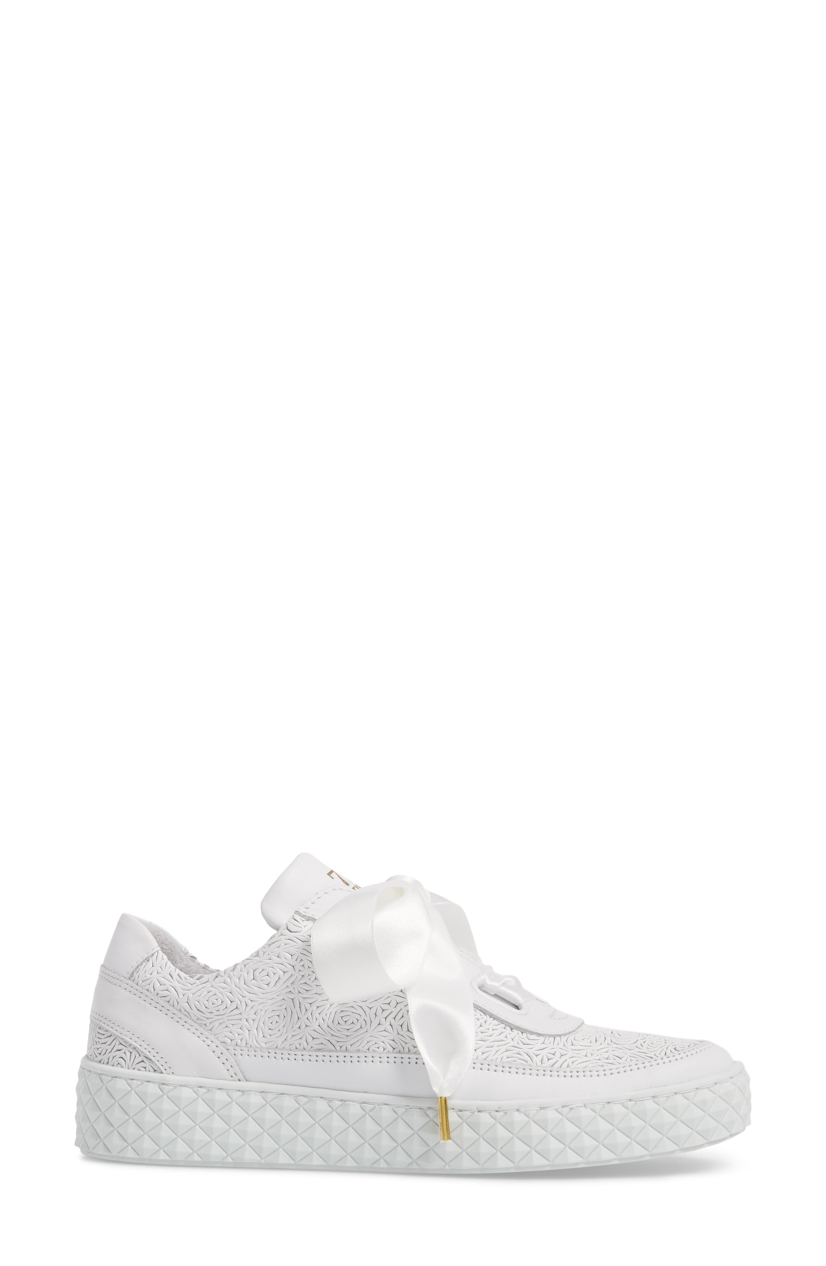 Montreal Sneaker,                             Alternate thumbnail 3, color,                             White Leather