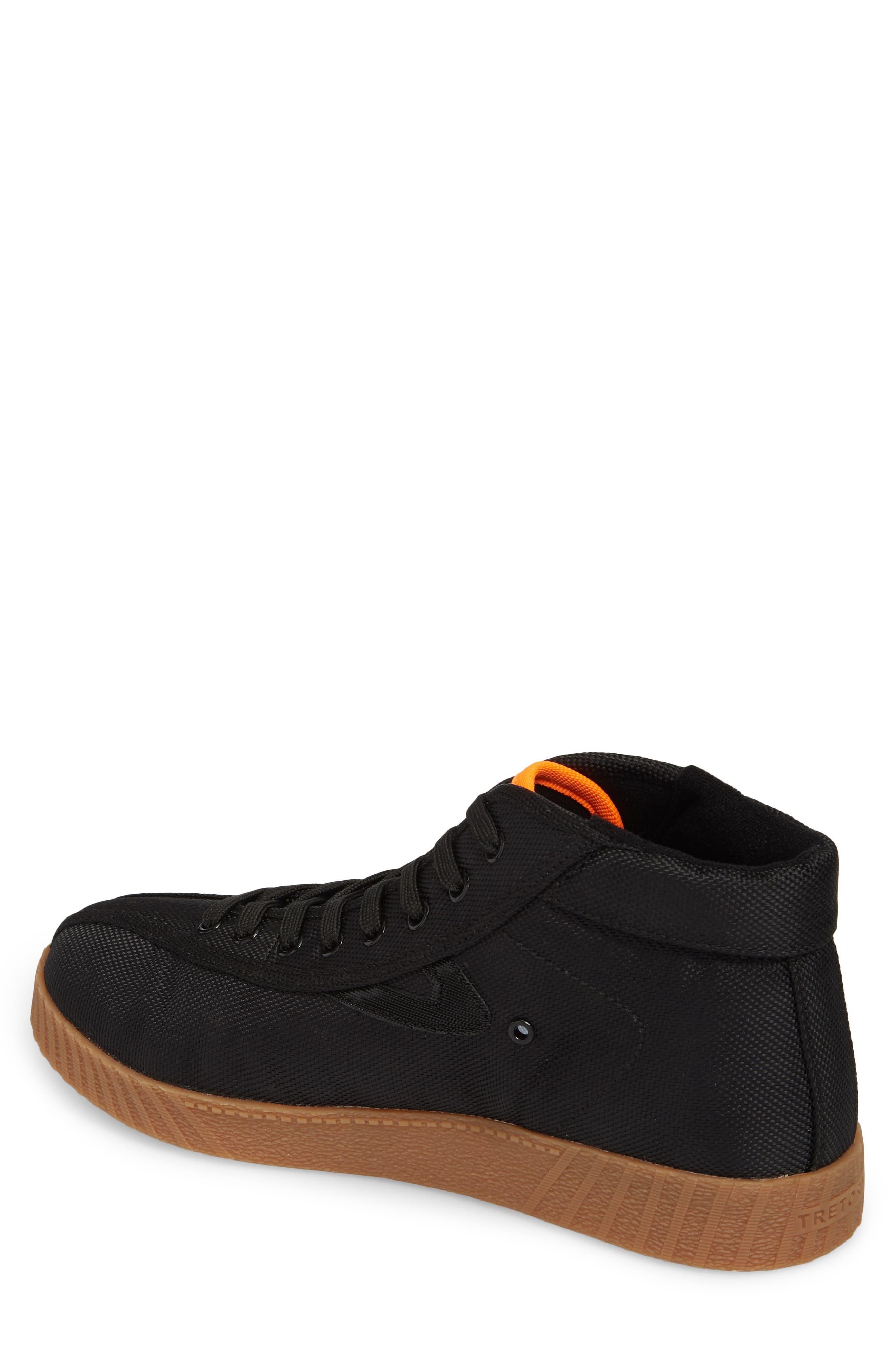 Andre 3000 Nylite High Top Sneaker,                             Alternate thumbnail 2, color,                             Black/ Neon Orange Nylon