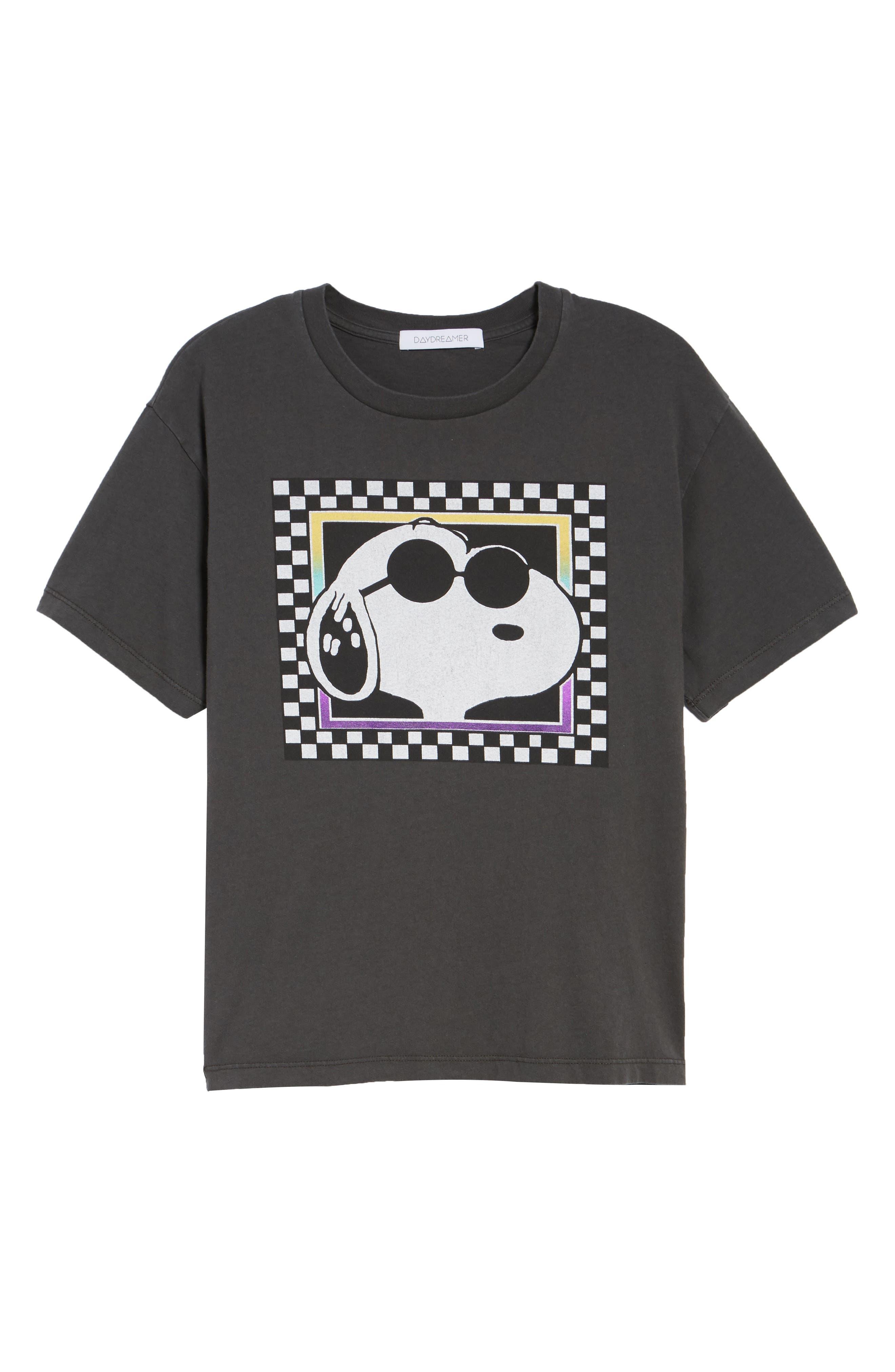 DAYDREAMER Joe Cool Checkerboard Tee in Black