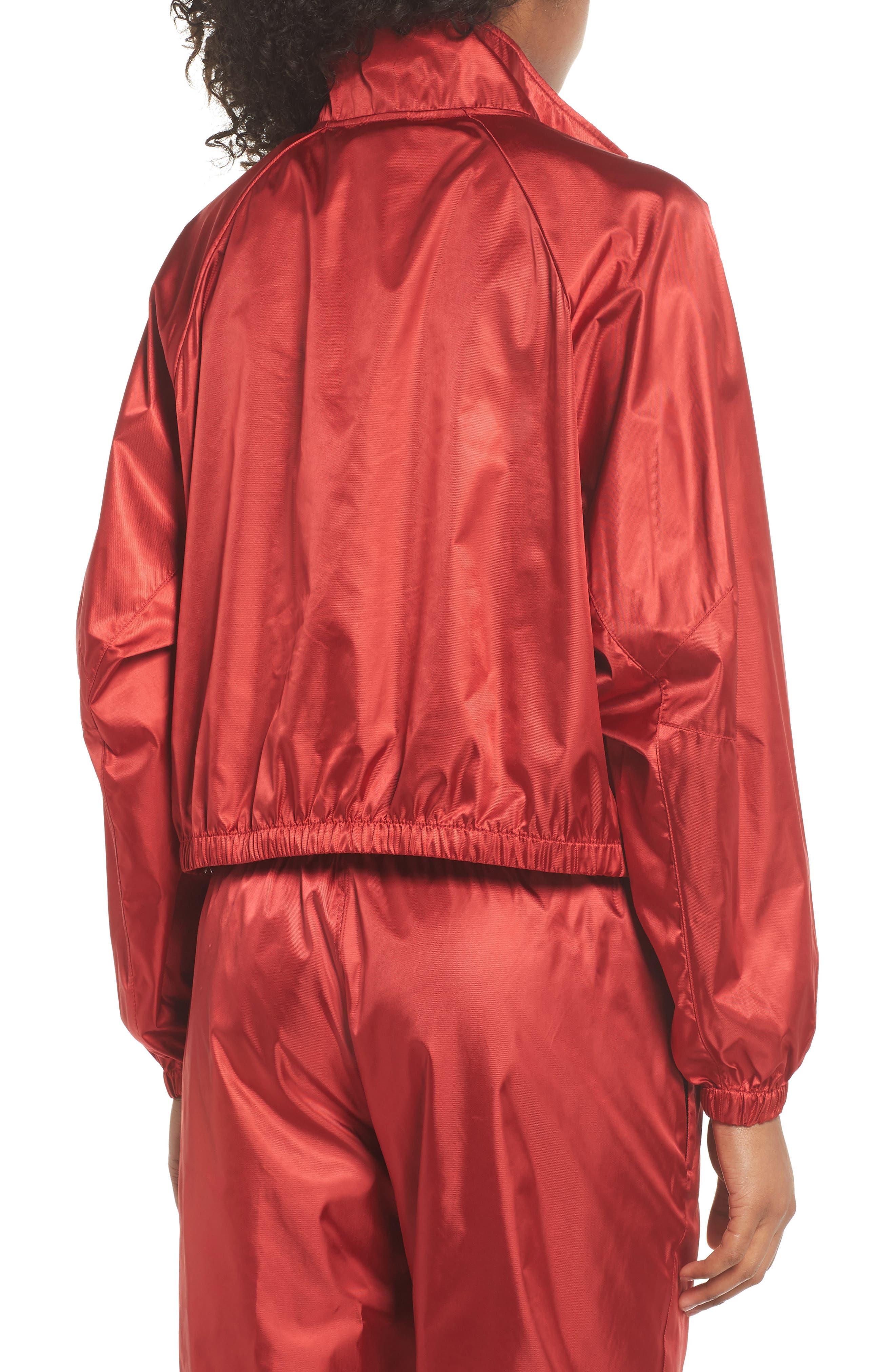 NikeLab Collection Satin Half Zip Top,                             Alternate thumbnail 2, color,                             Gym Red/ Black