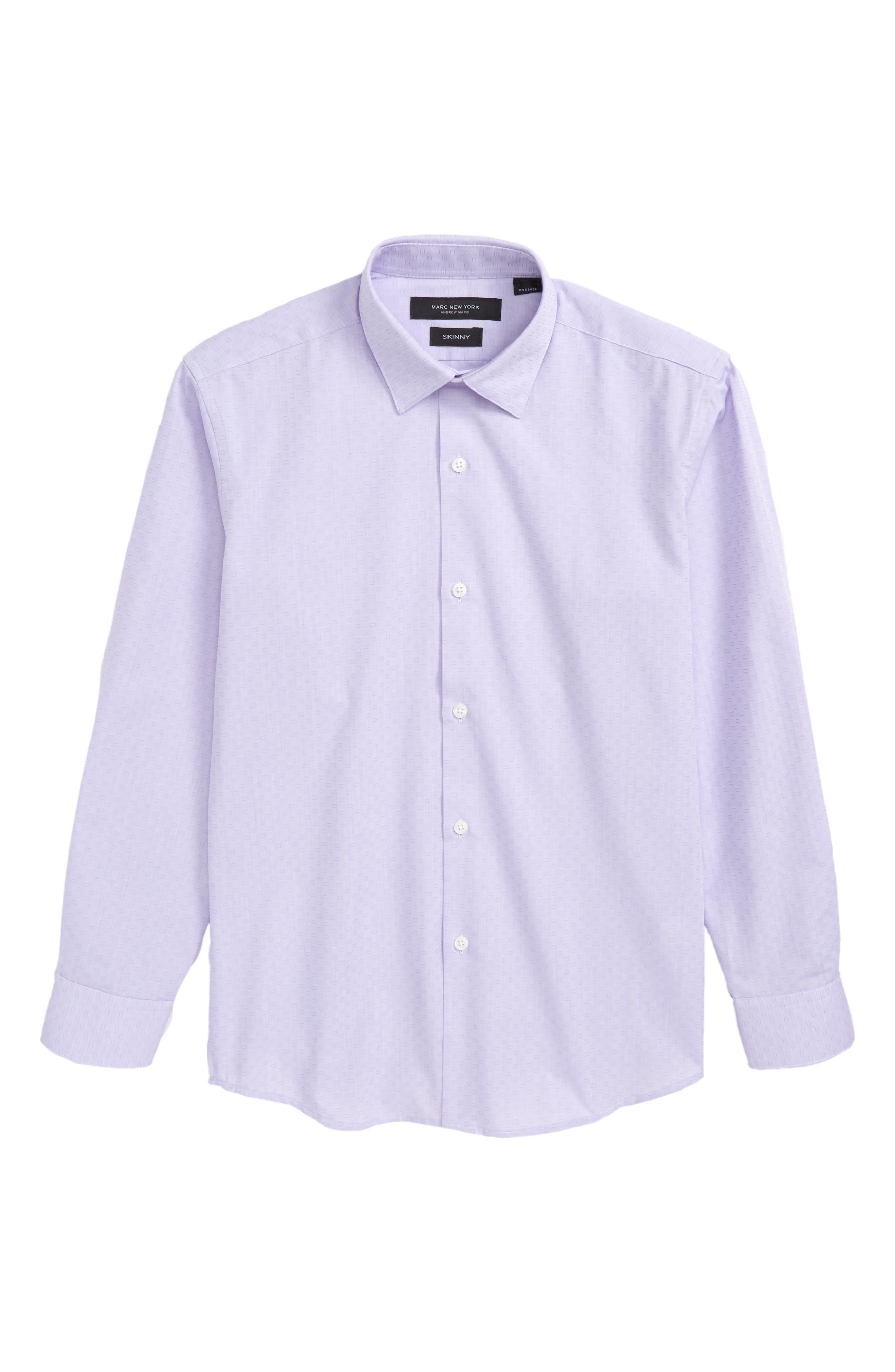 Check Dress Shirt,                         Main,                         color, Lilac