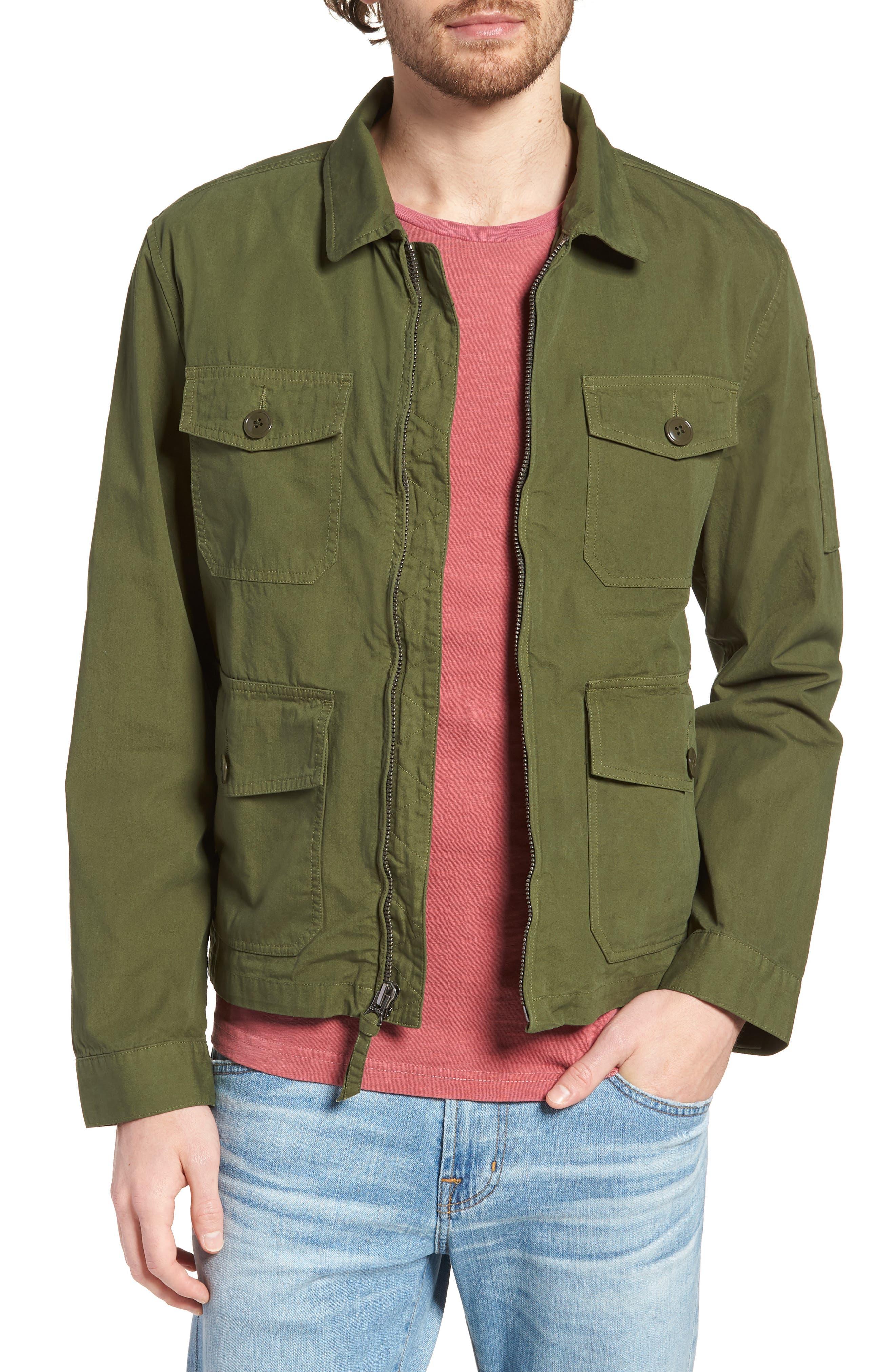 Four-Pocket Utility Jacket,                         Main,                         color, Hillside Green