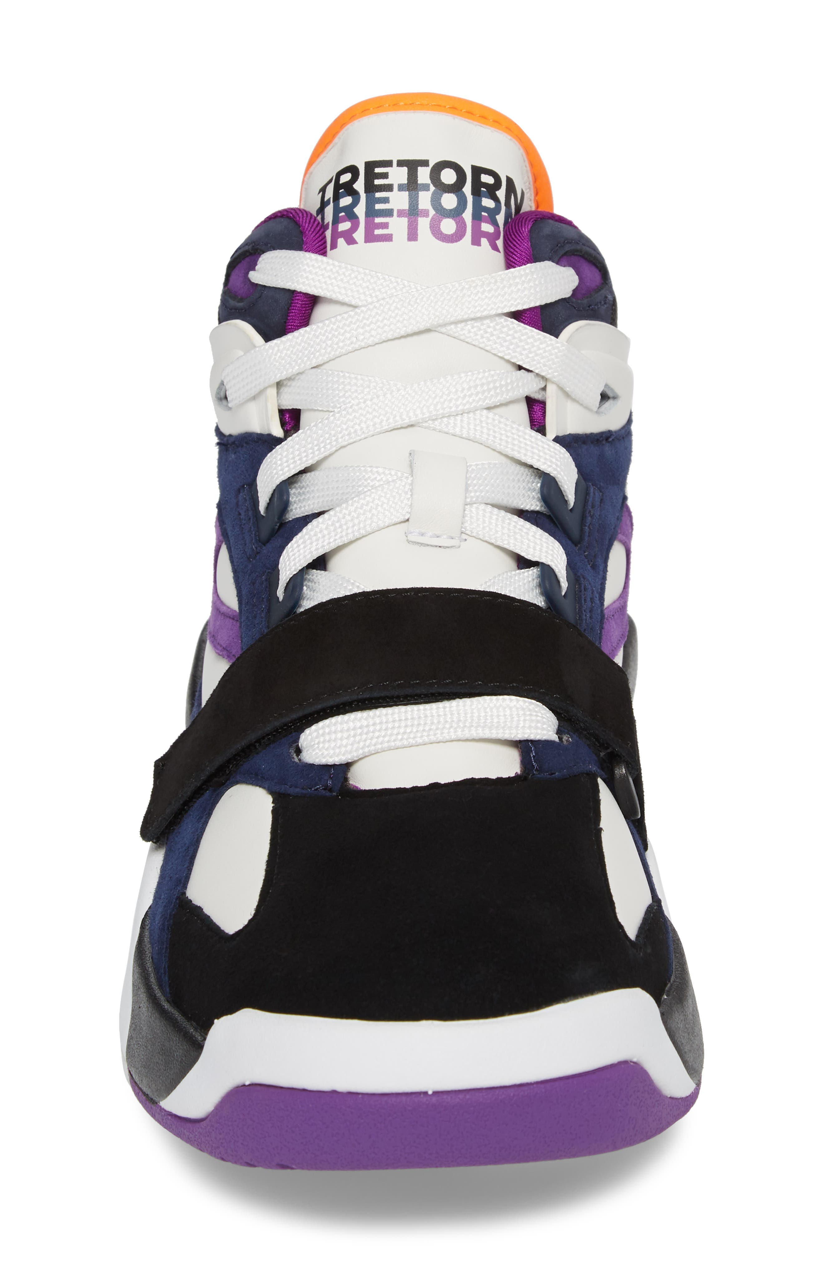 Andre 3000 Bostad 2 High Top Sneaker,                             Alternate thumbnail 4, color,                             Black/ White/ Purple