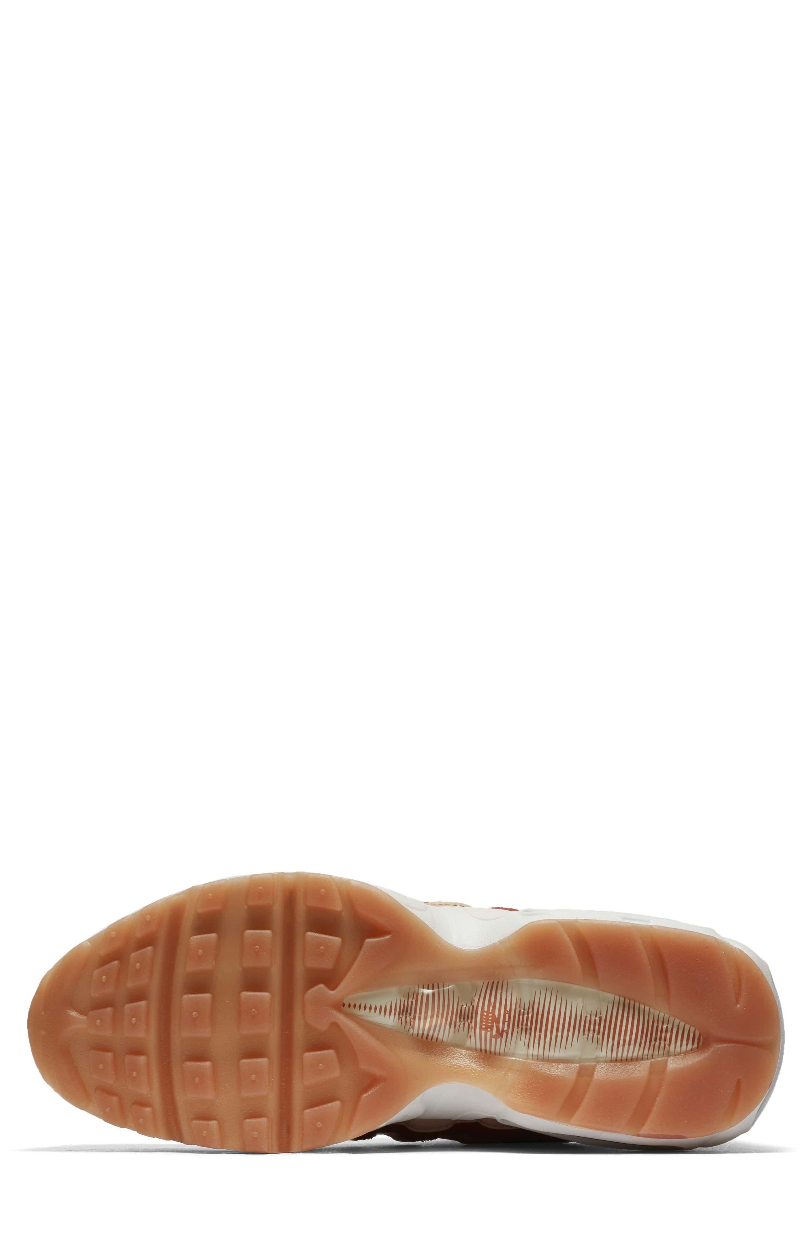 Air Max 95 LX Shoe,                             Alternate thumbnail 5, color,                             Dusty Peach/ Dusty Peach
