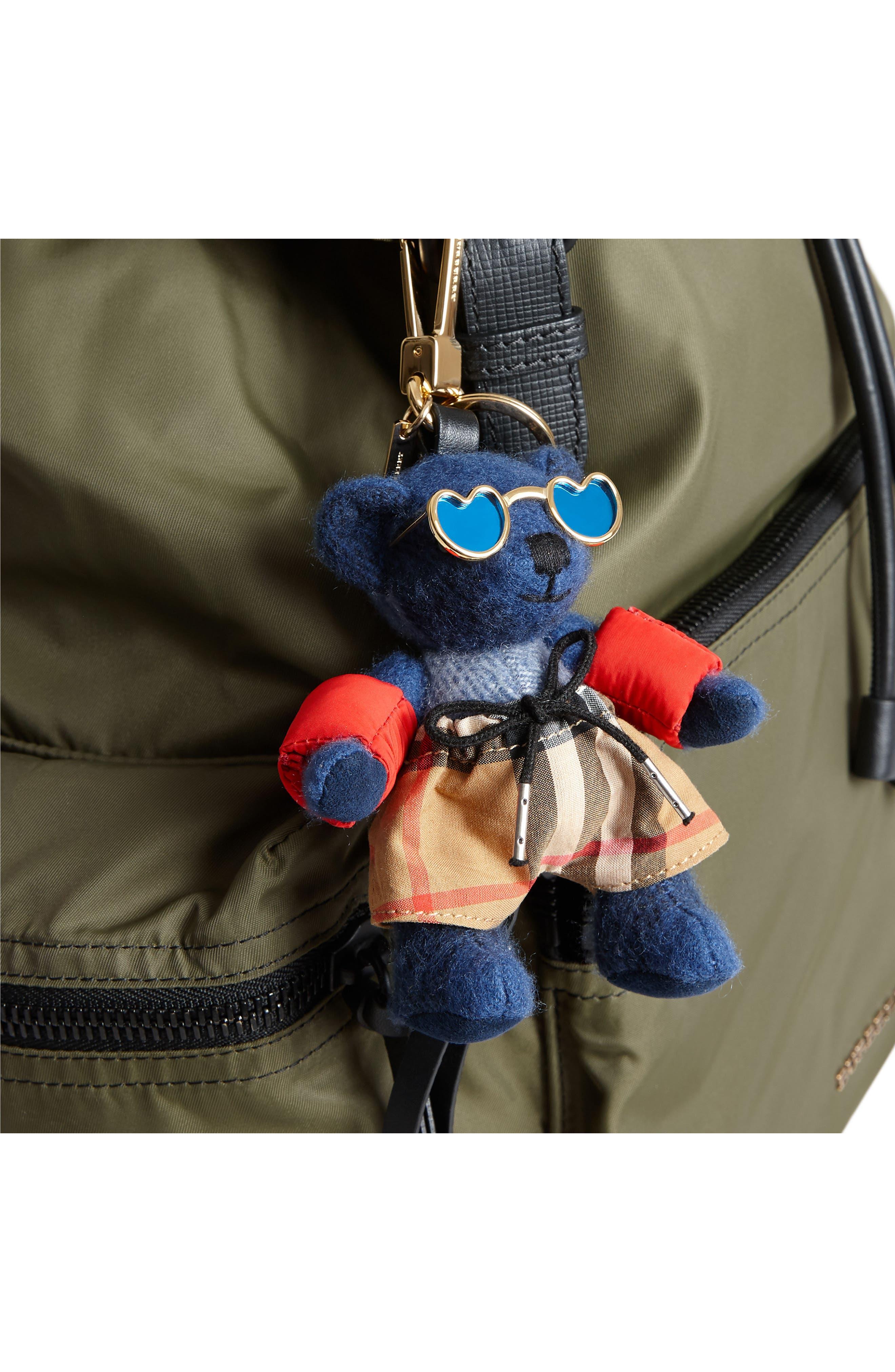 Thomas Bear Beach Bag Charm,                             Alternate thumbnail 2, color,                             Cadet Blue