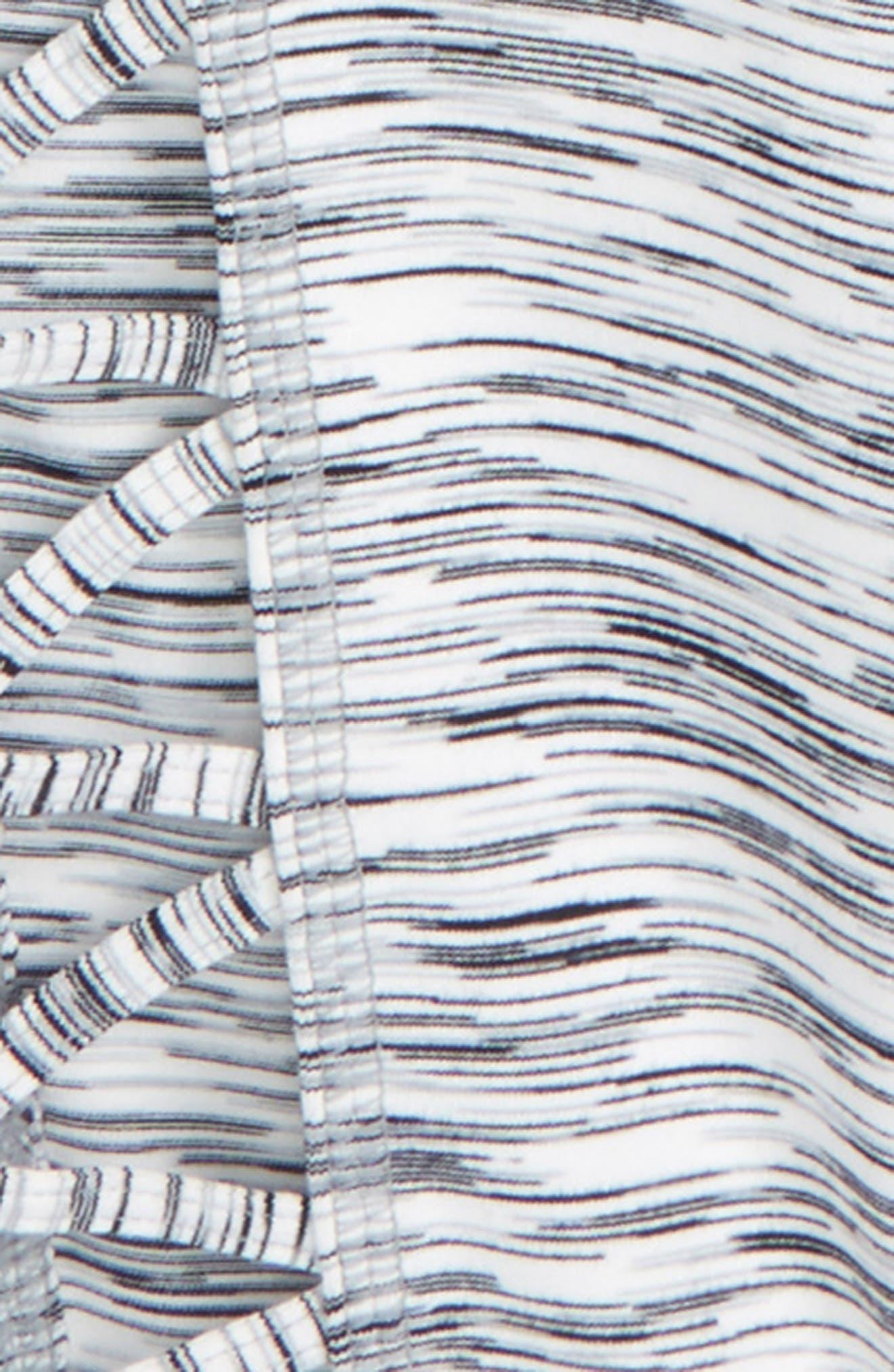 High Waist Lattice Crop Leggings,                             Alternate thumbnail 2, color,                             White Eclipse Spacedye