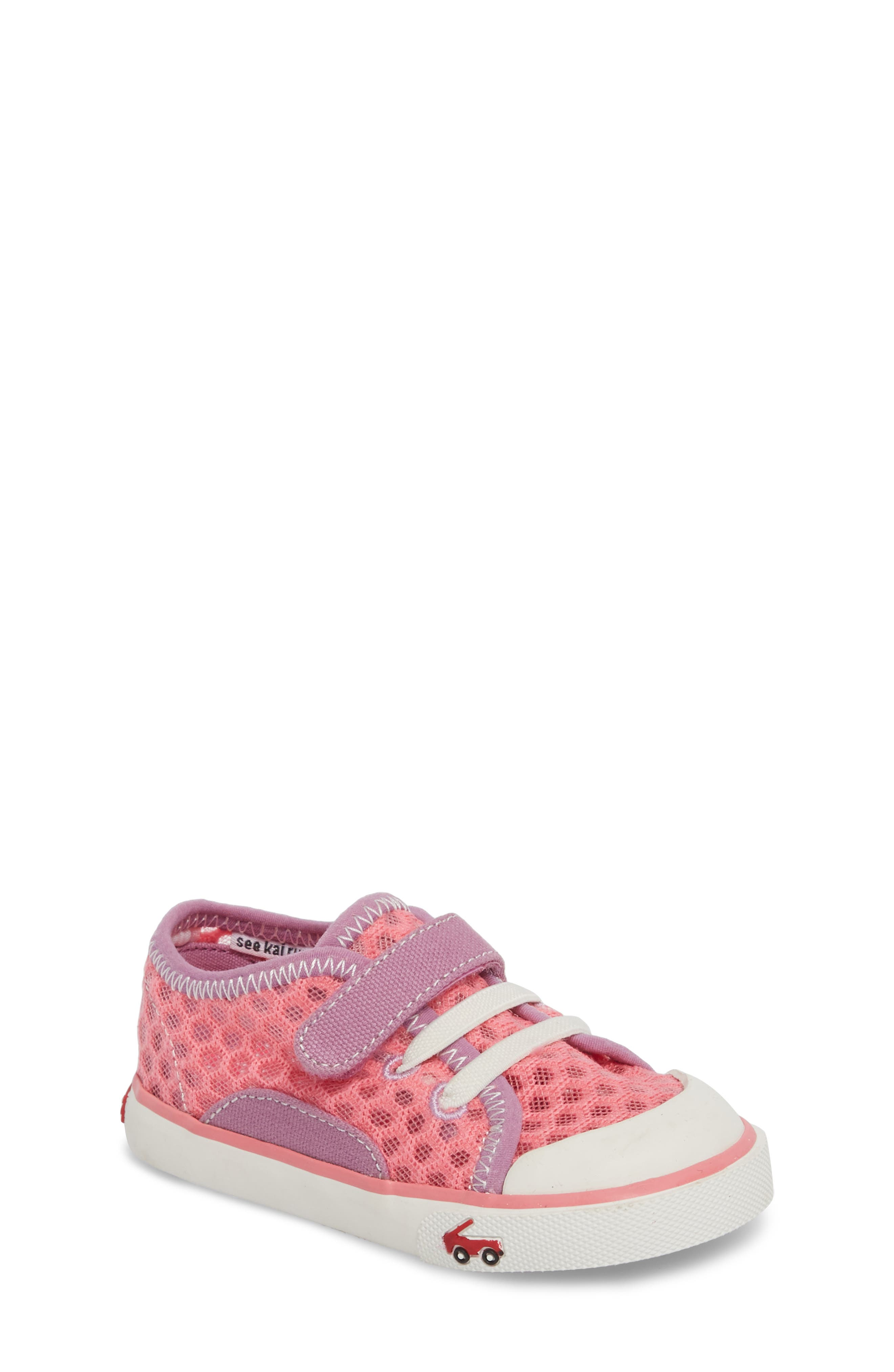 Saylor Sneaker,                         Main,                         color, Hot Pink