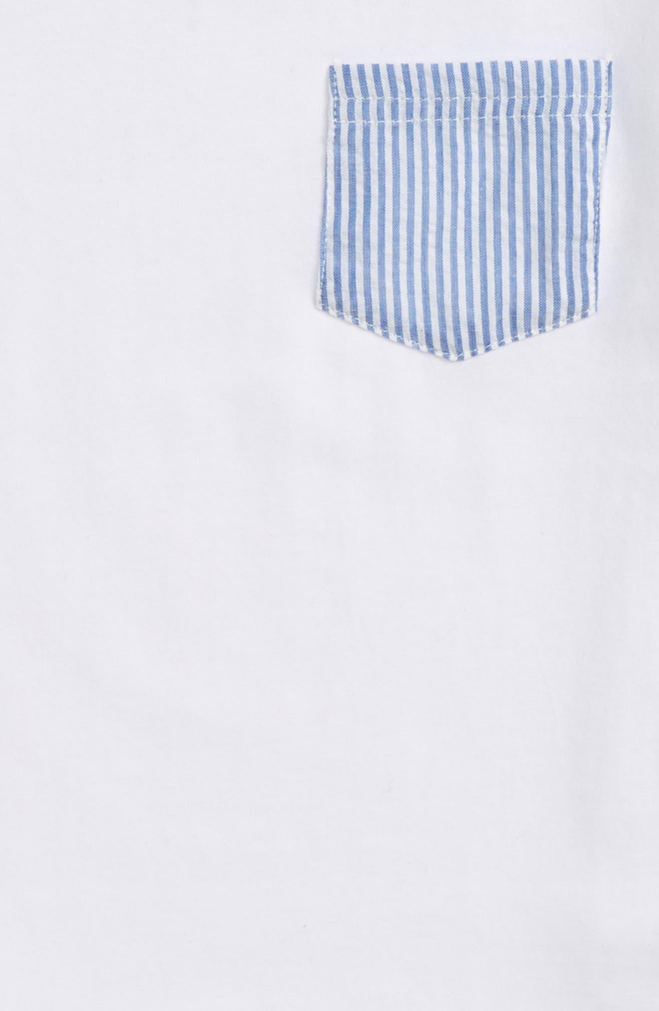 Seersucker Pocket T-Shirt,                             Alternate thumbnail 2, color,                             White