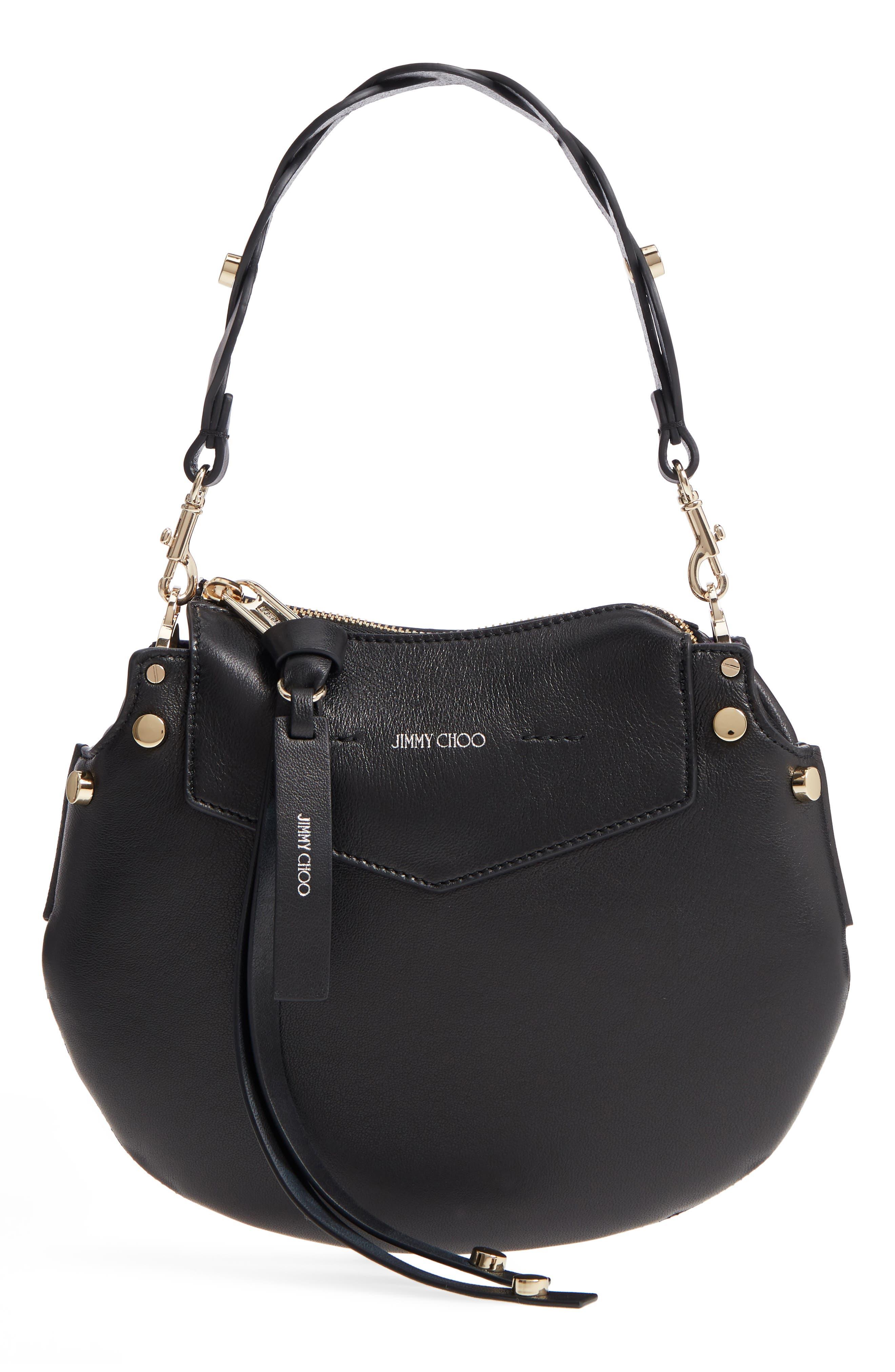 Jimmy Choo Mini Artie Leather Crossbody Bag