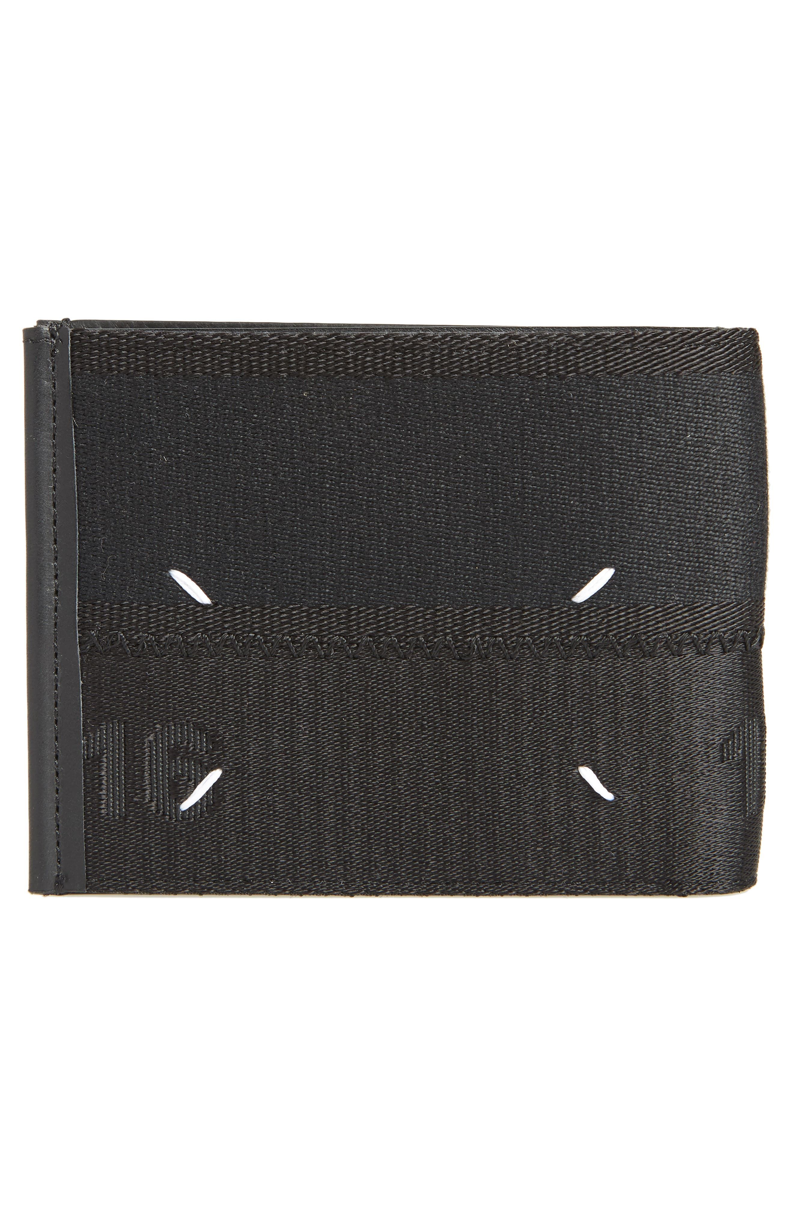 Leather Card Case,                             Alternate thumbnail 3, color,                             Black